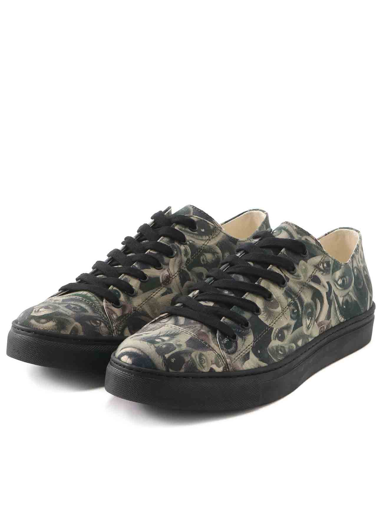 EYE PRINT CANVAS LOW TOP PRINT SNEAKERS