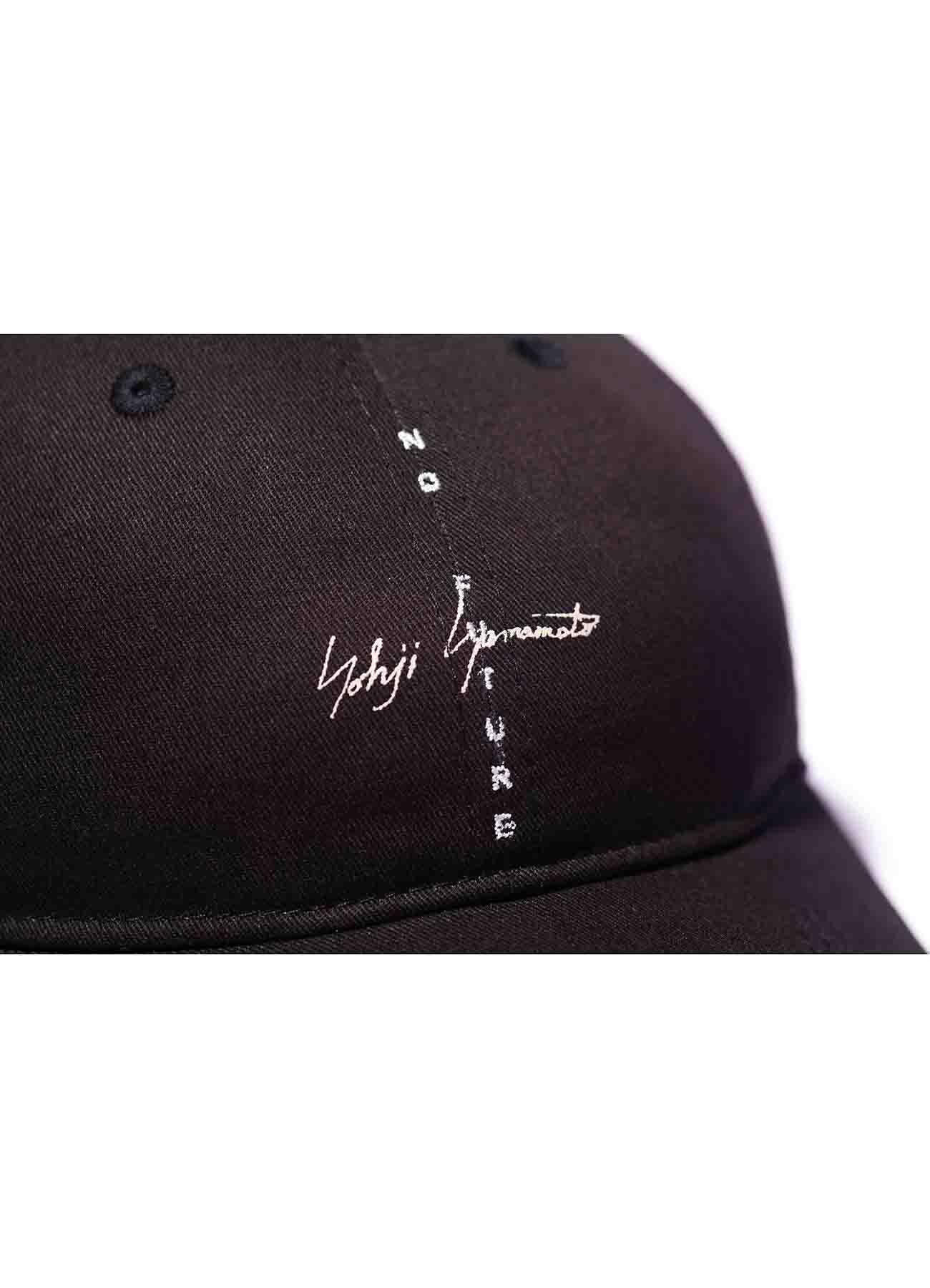 Yohji Yamamoto × New Era COTTON BLACK 9THIRTY  NO FUTURE LOGO