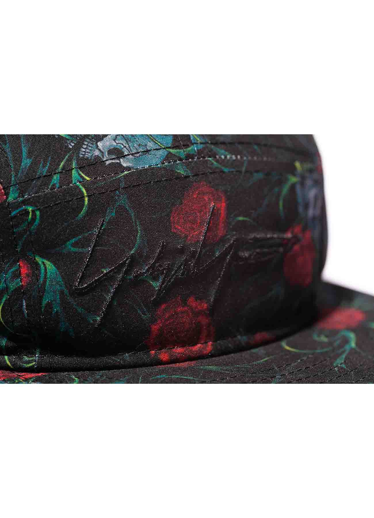Yohji Yamamoto × New Era POLYESTER TRANSCRIPTION PRINT SKULL ROSE JET CAP BLACK RED