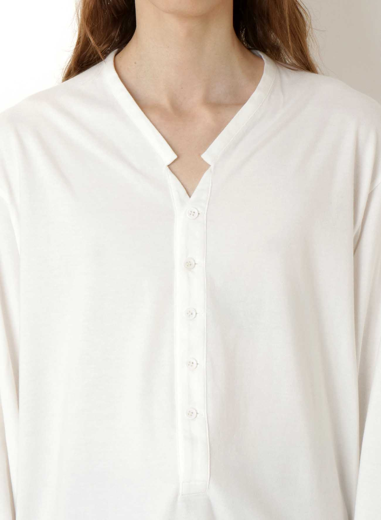 40/2 COMBED PLAIN STITCH SMALL COLLAR HENLEY