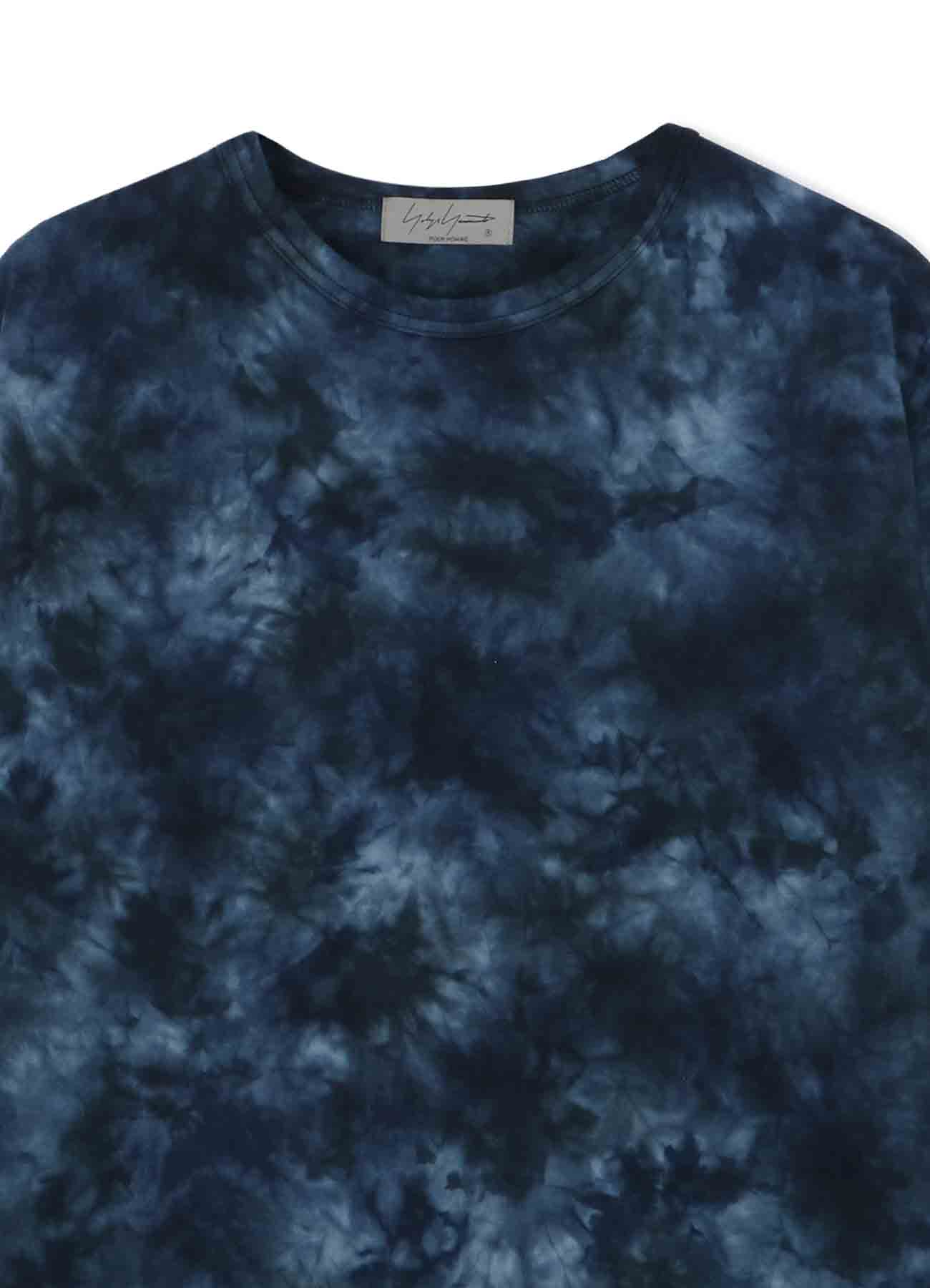 PS UNEVEN DYE FRONT BACK ROUND NECK LONG SLEEVES