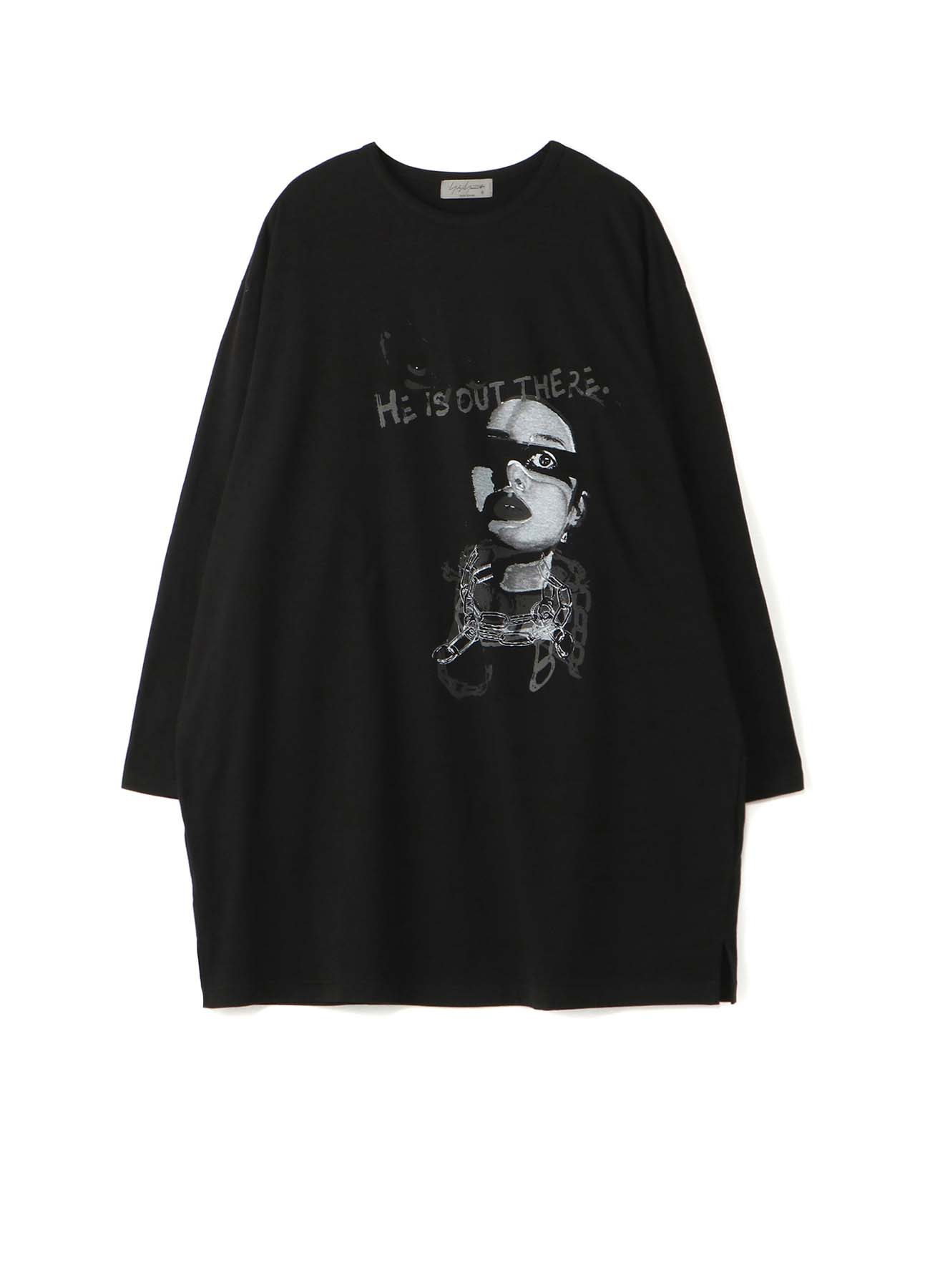 HE IS OUT PRINT BIG LONG SLEEVES