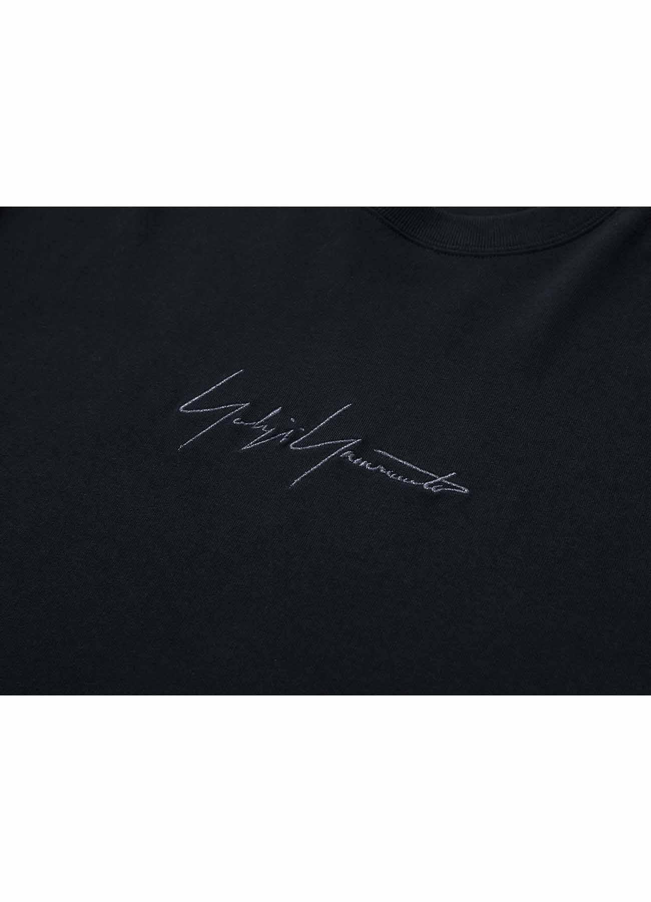 Yohji Yamamoto × New Era METALLIC BLACK SIGNATURE SS TEE