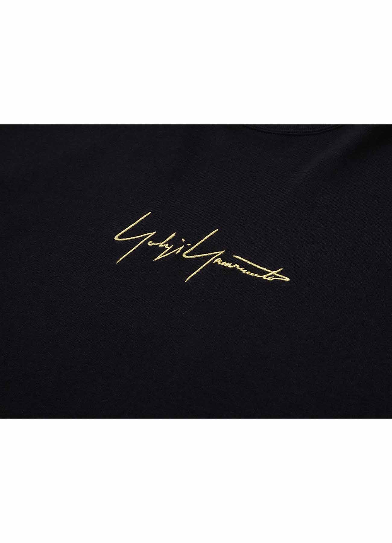 Yohji Yamamoto × New Era METALLIC GOLD SIGNATURE SS TEE