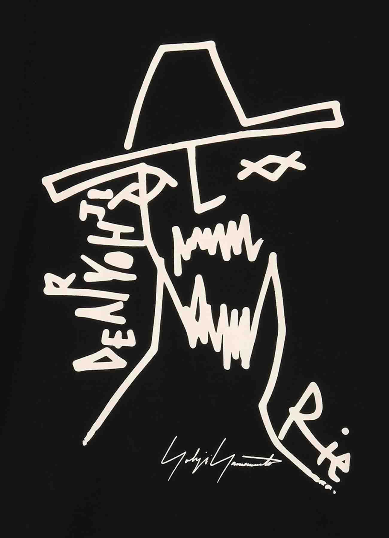 Yohji Yamamoto × New Era RIE MIYAZAWA S/S PRINT COTTON TEE