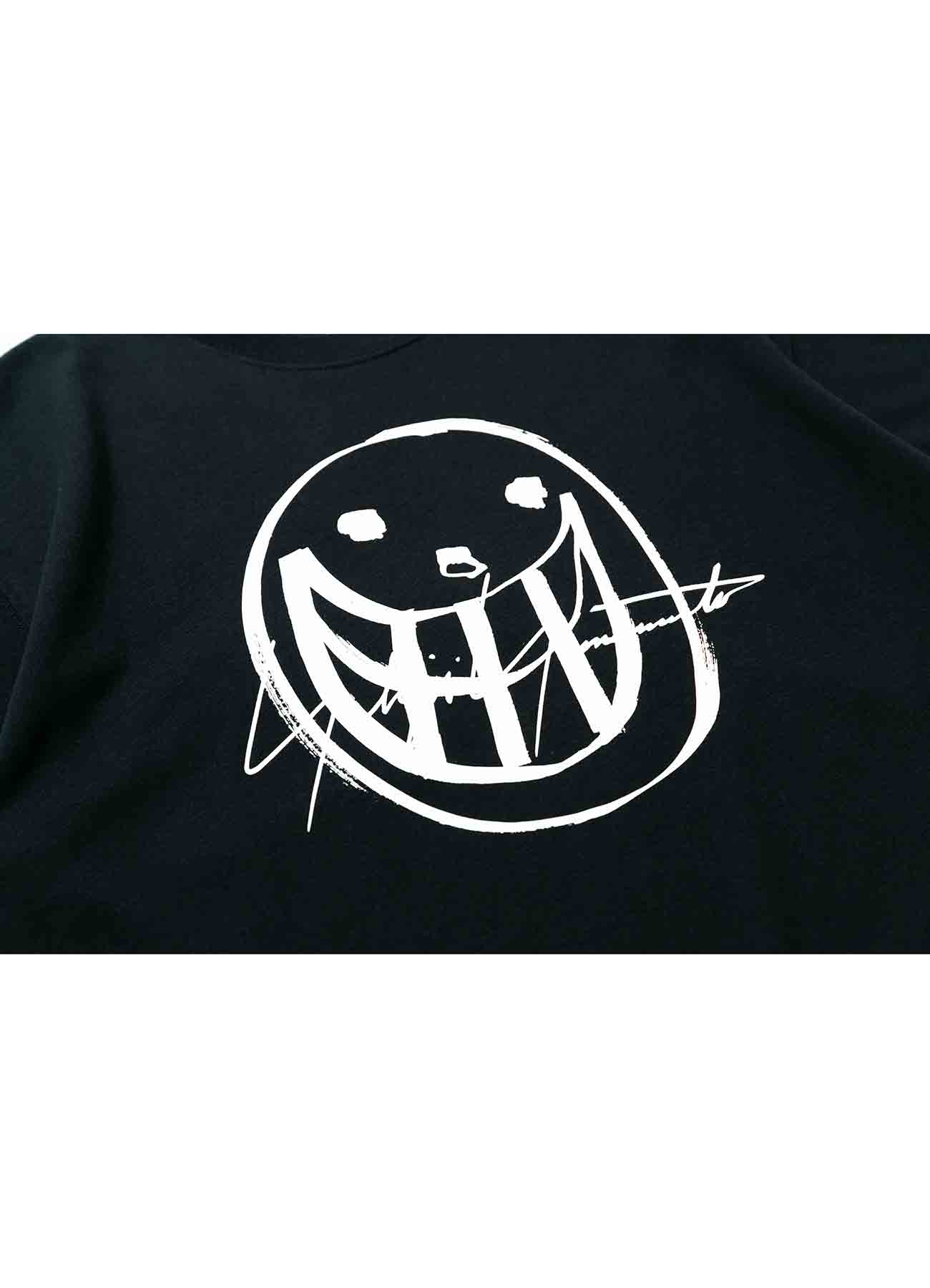 Yohji Yamamoto × New Era S/S SMILE LOGO PRINT COTTON TEE