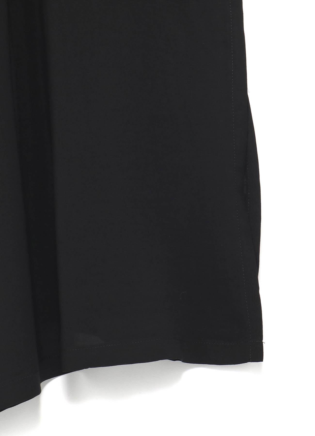 レーヨンスパンローン 左二重ノーカラーシャツ