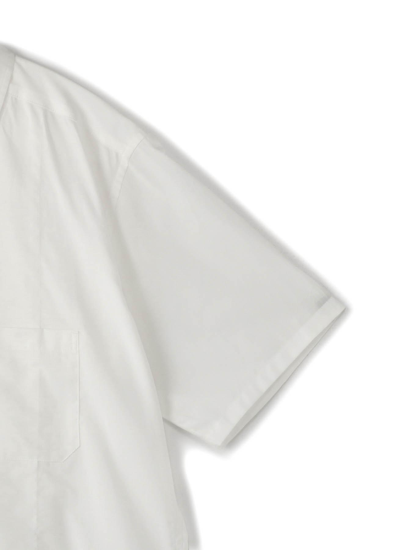 Cotton Loan 前開き2枚仕立半袖ブラウス