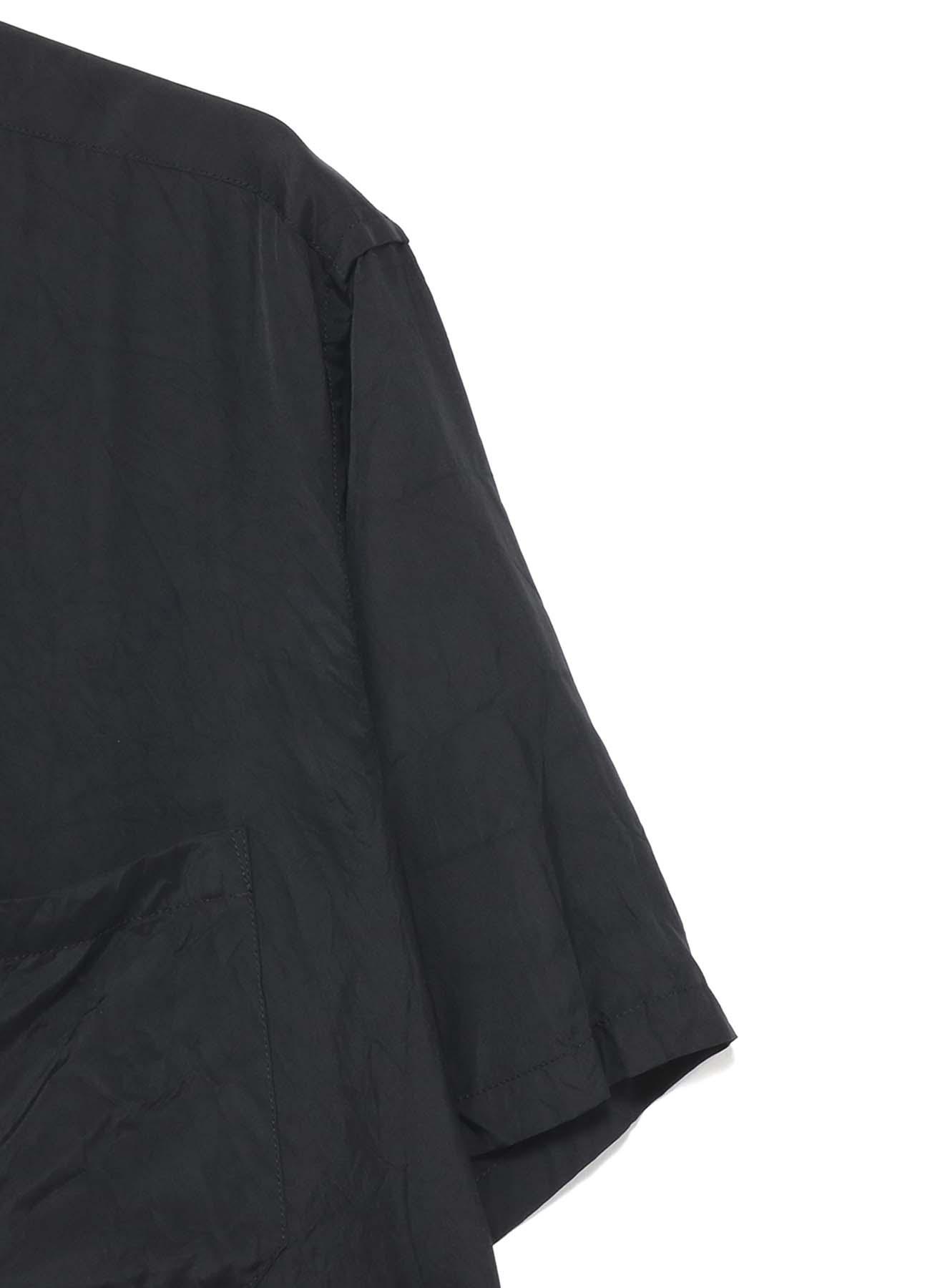 先染めキュプラ 半袖ビッグシャツ