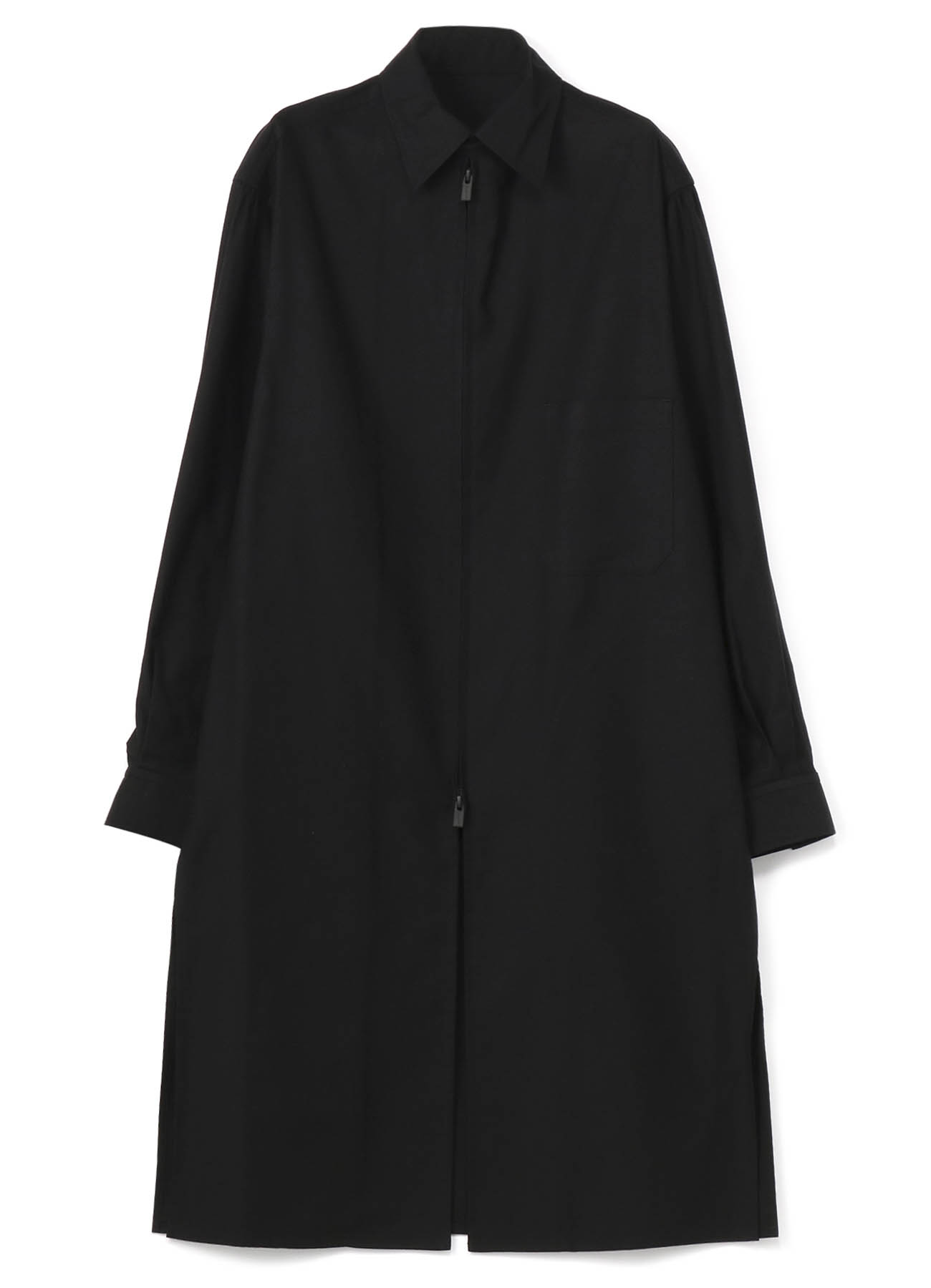 YOHJI YAMAMOTO BLACK SCANDAL  长款拉链衬衫