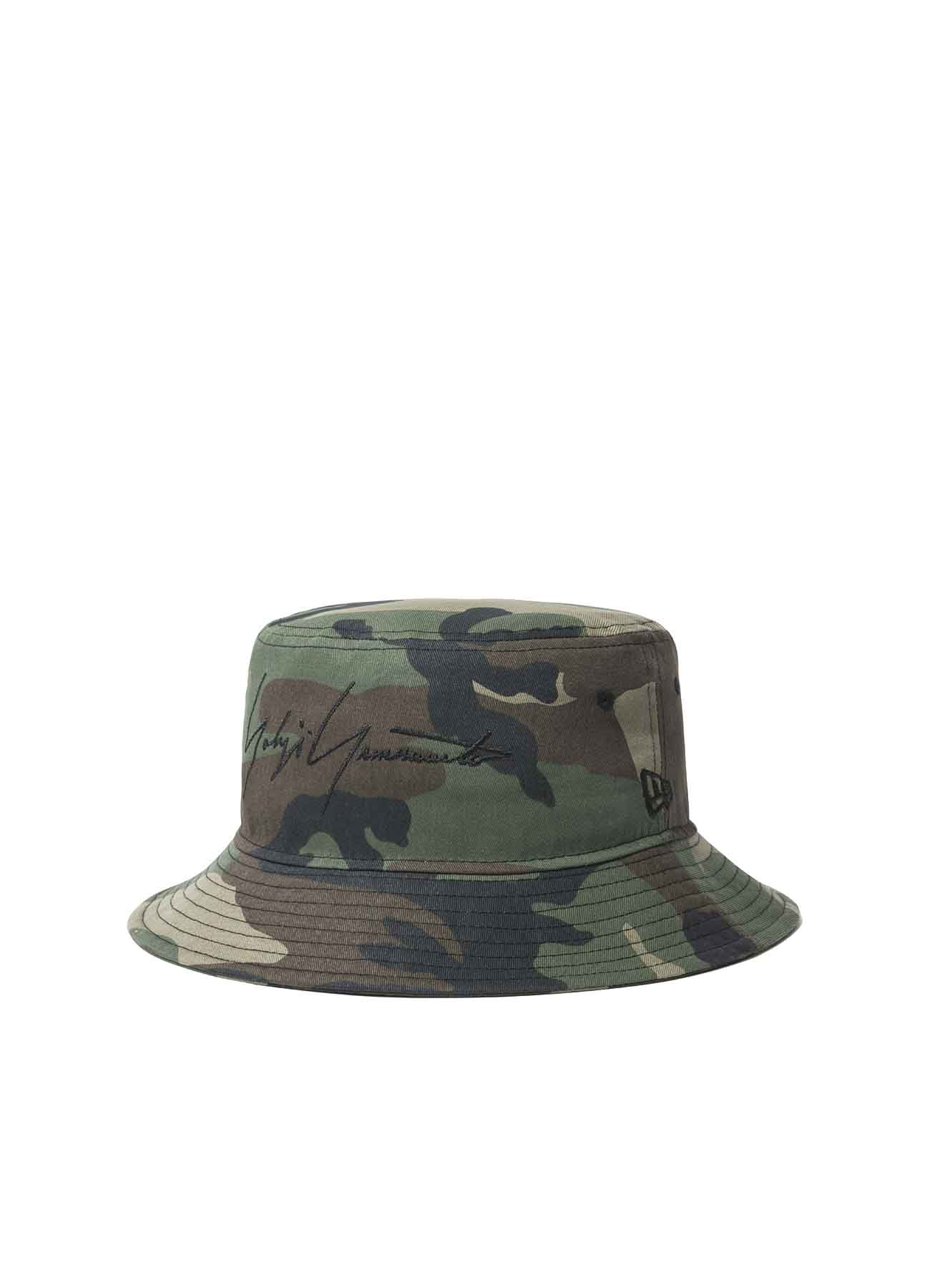 Yohji Yamamoto × New Era Bucket Camouflage Cotton