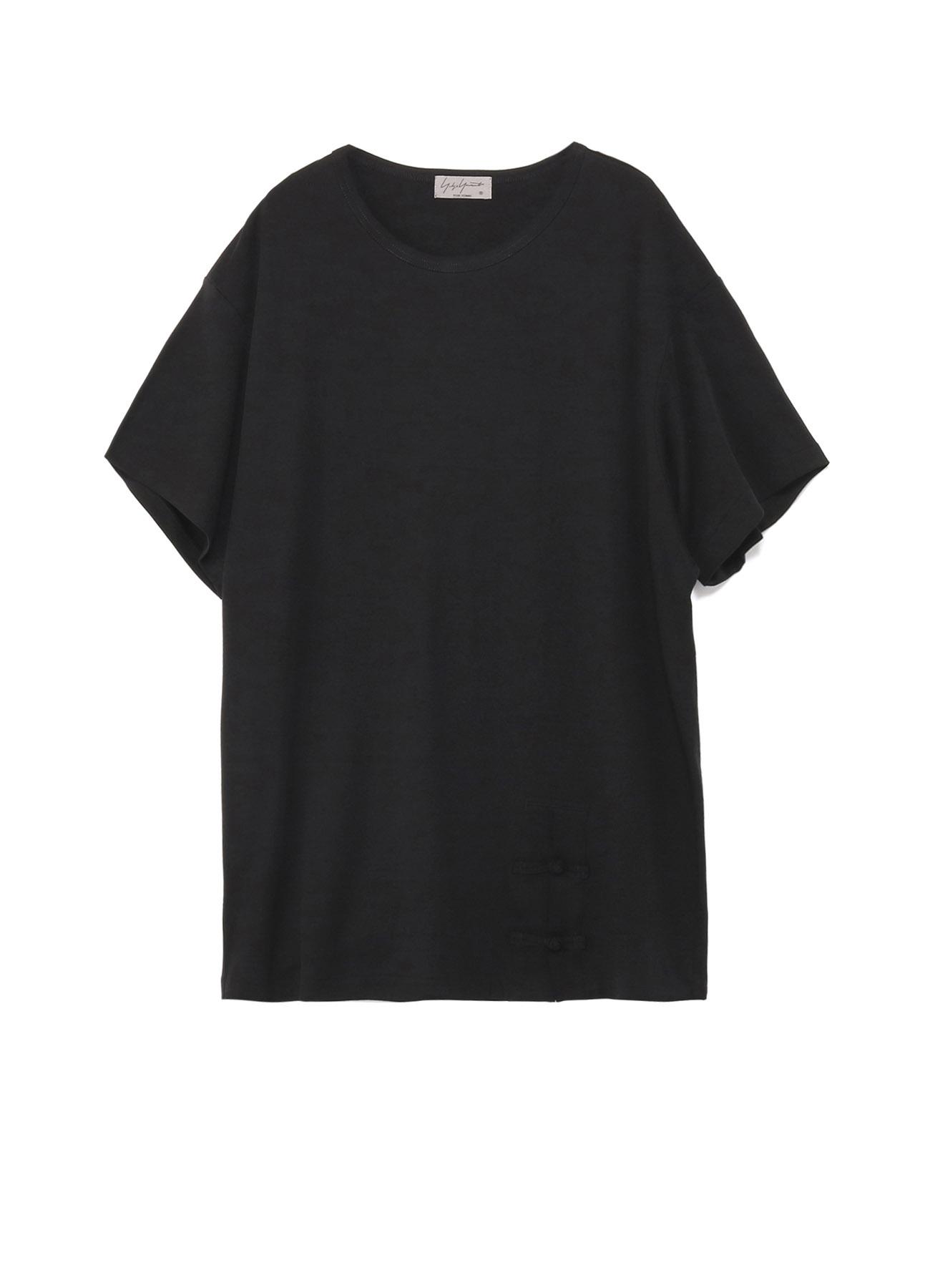 80/-ディオラマスムース 釈迦釦丸首半袖TEE