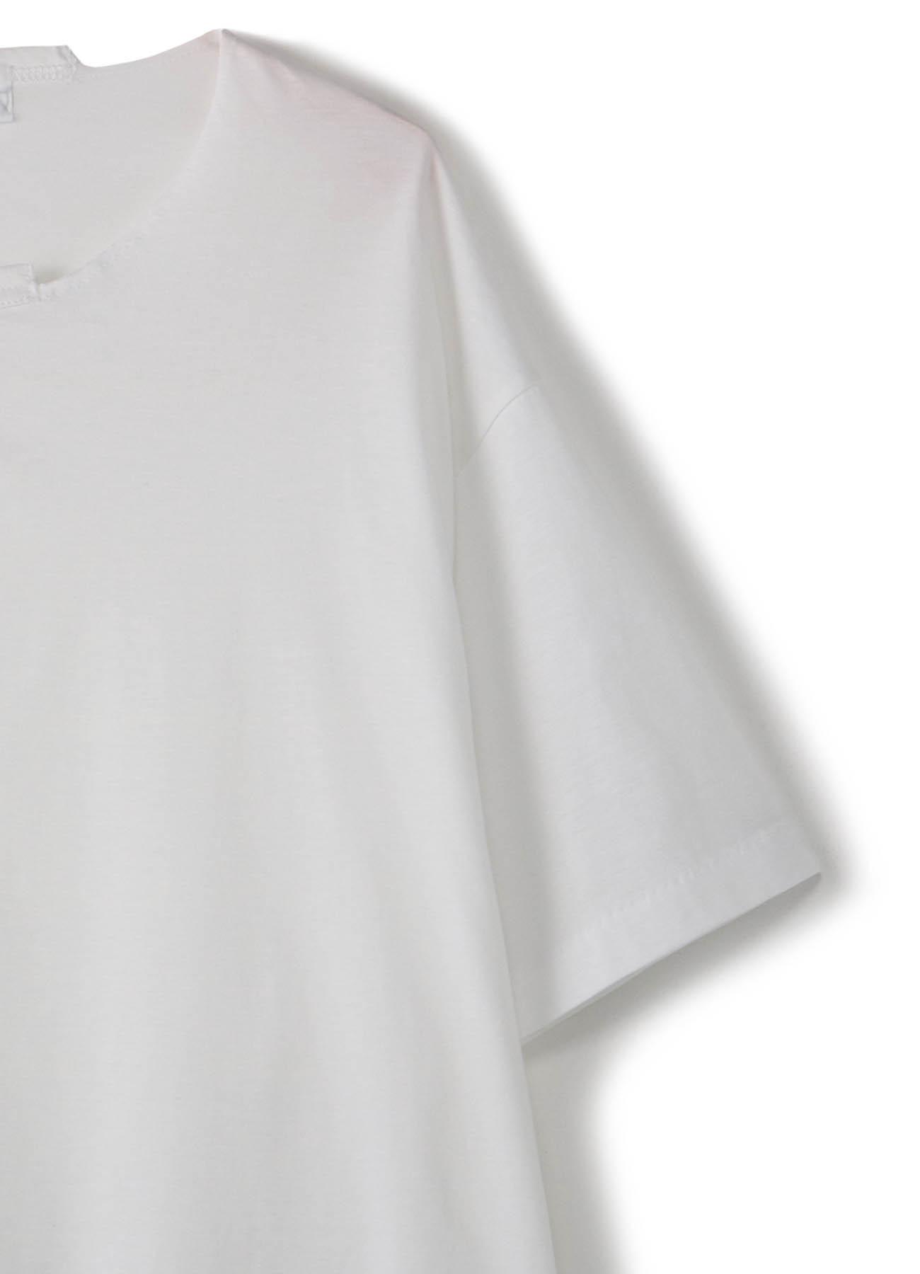 ハイゲージ天竺-大切込み丸首半袖TEE