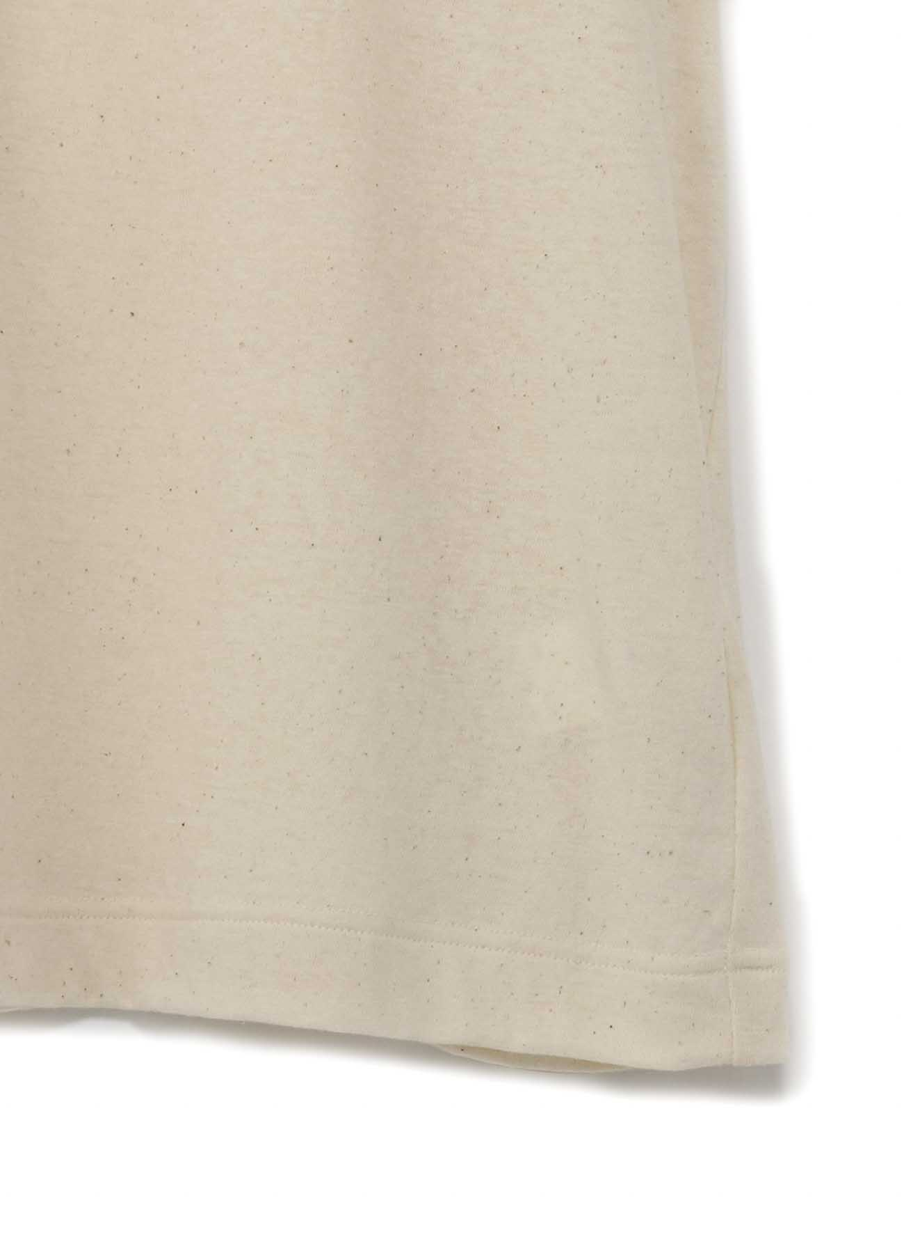 オールドコットン天竺縫代見せ タチキリ丸首半袖Tee