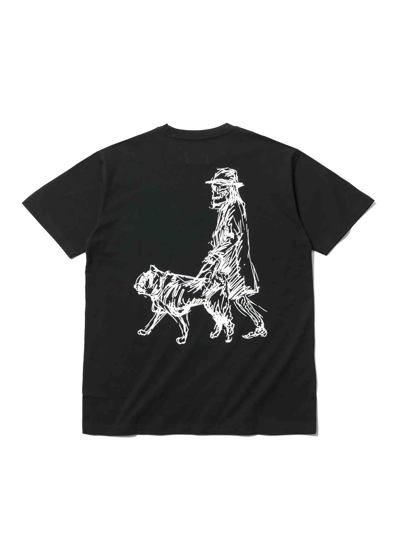 Yohji Yamamoto × New Era 反転ロゴ Yuuka Asakura バックプリント半袖TEE