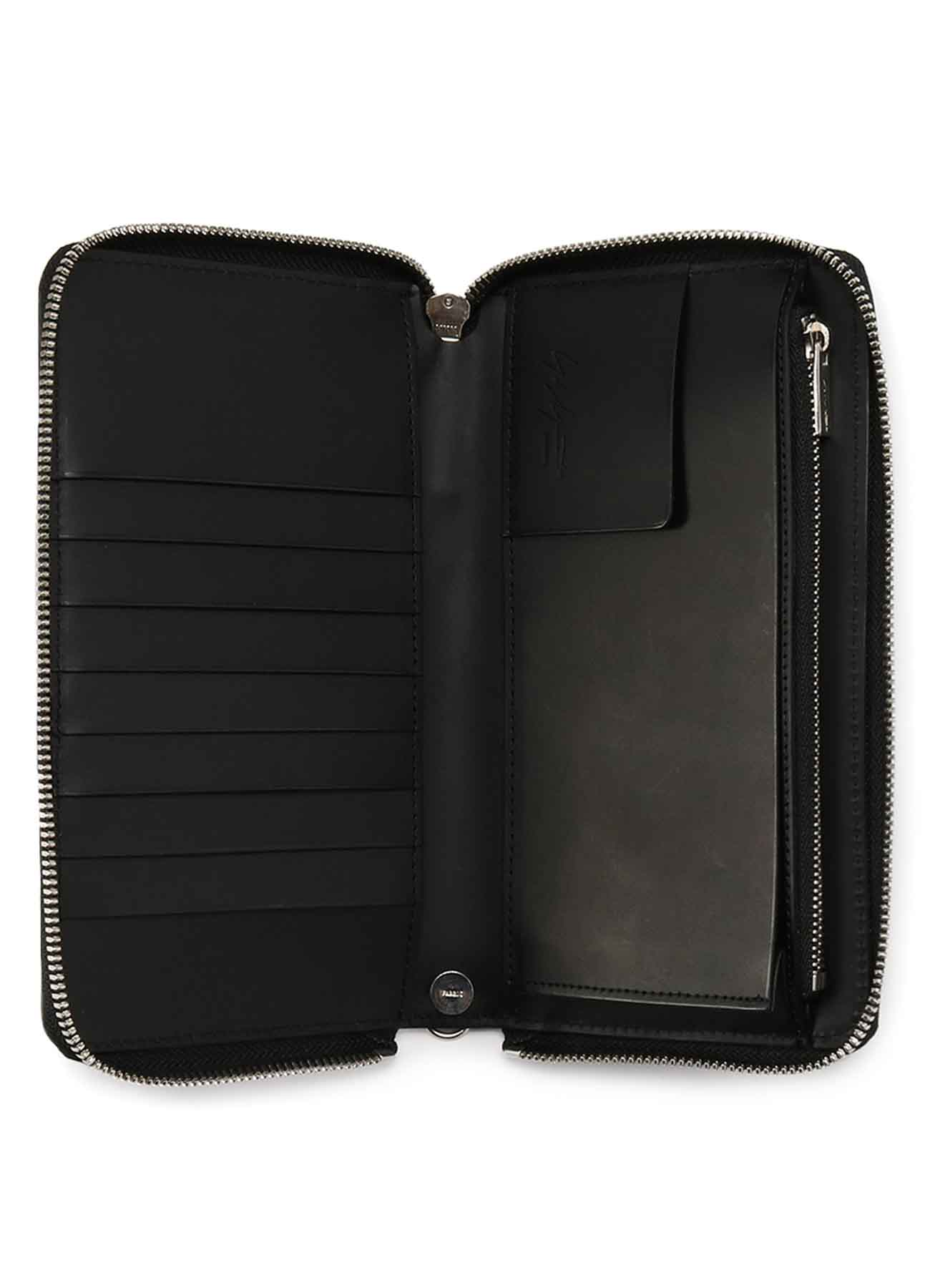 THICK UNFINISHED LEATHER FASTENER WALLET L