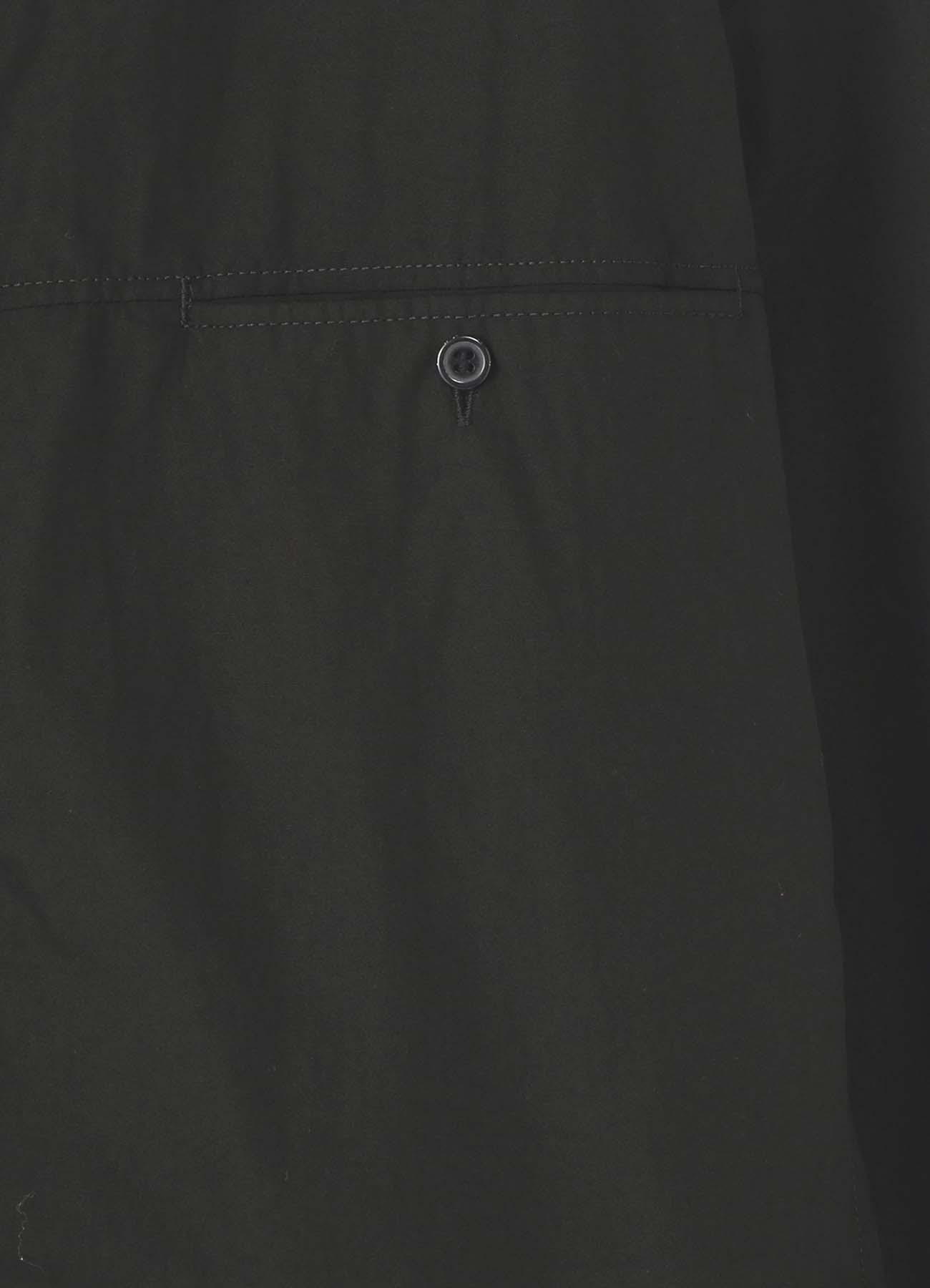 環縫いブロード 胸切替ポケットブラウス