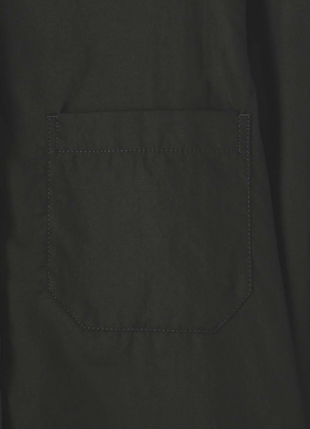 環縫いブロード ロングカラーブラウス