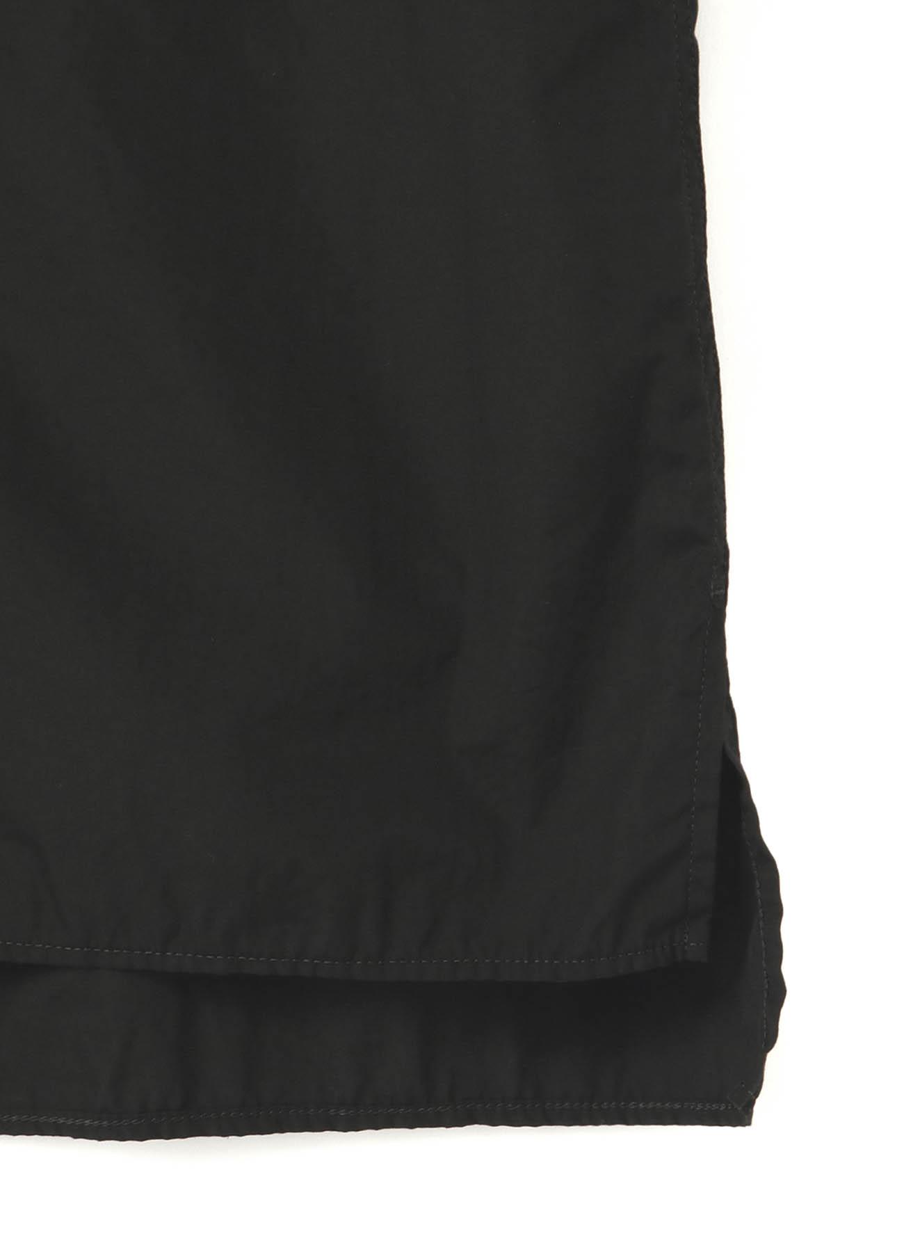 環縫いブロード 台衿ロングカラーブラウス
