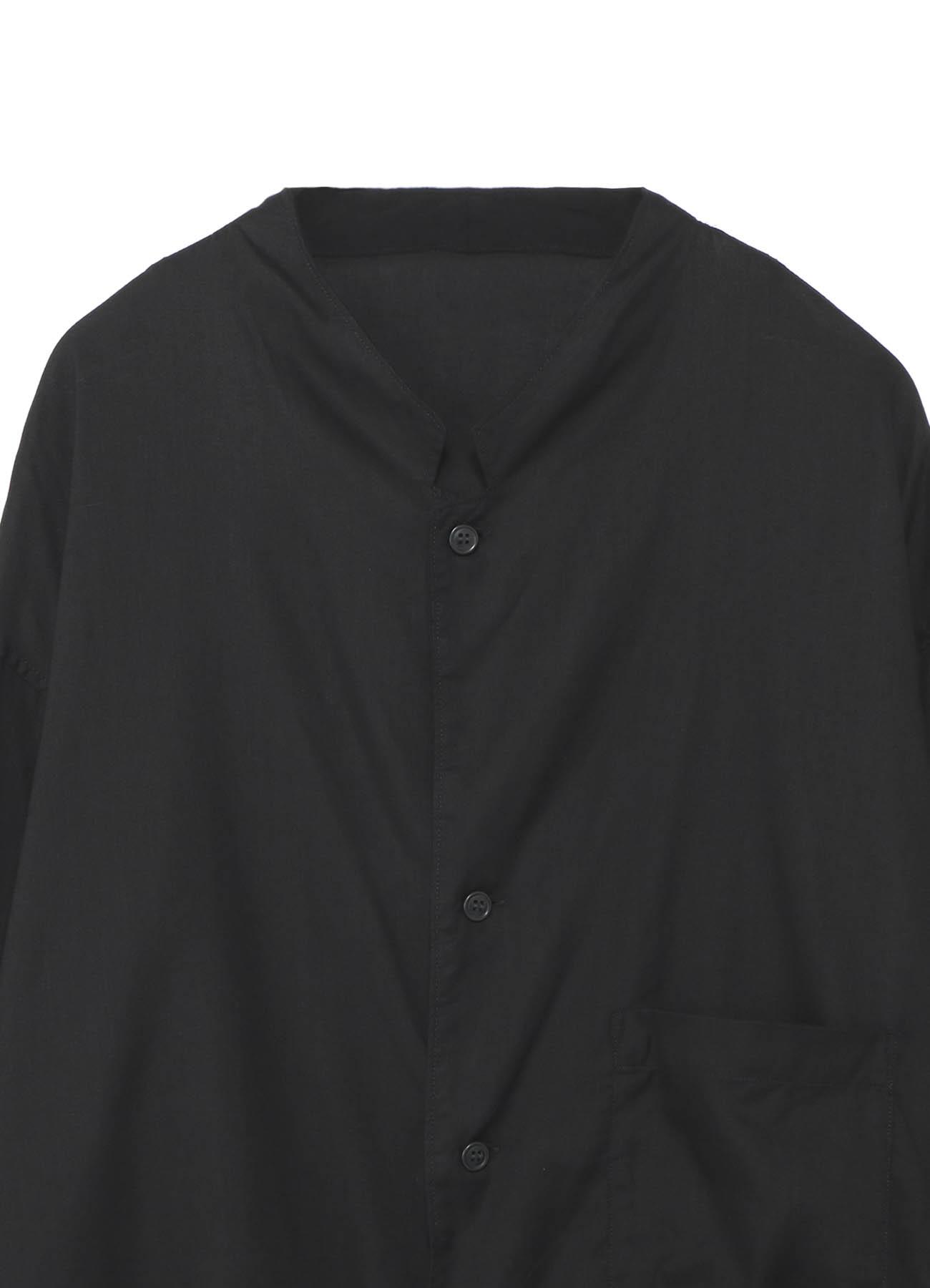 レーヨンローン/テンセルローン 開衿ロングシャツ