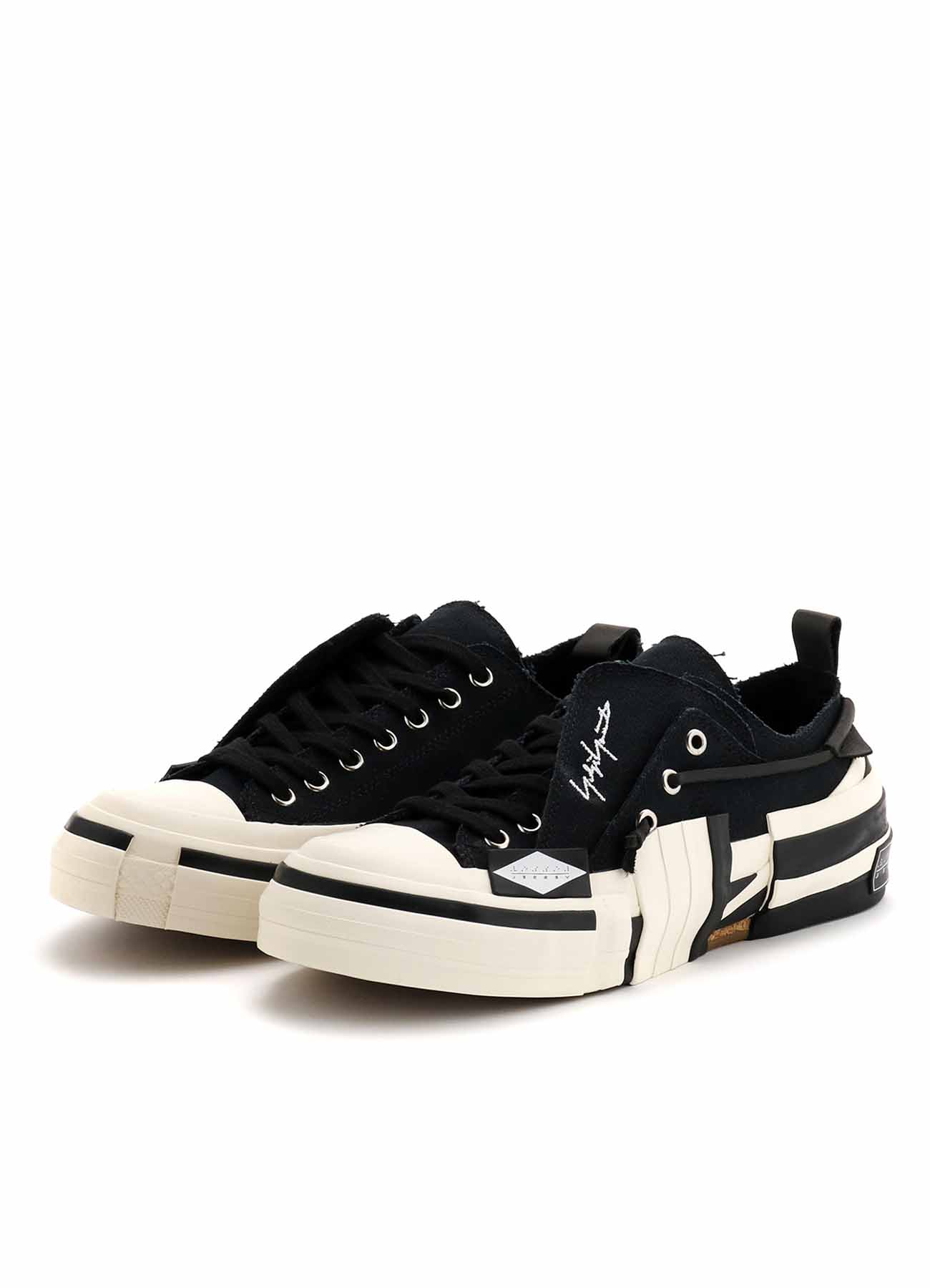Yohji Yamamoto × VESSEL C/CANVAS BK LAYERED LOW TOP SNEAKERS