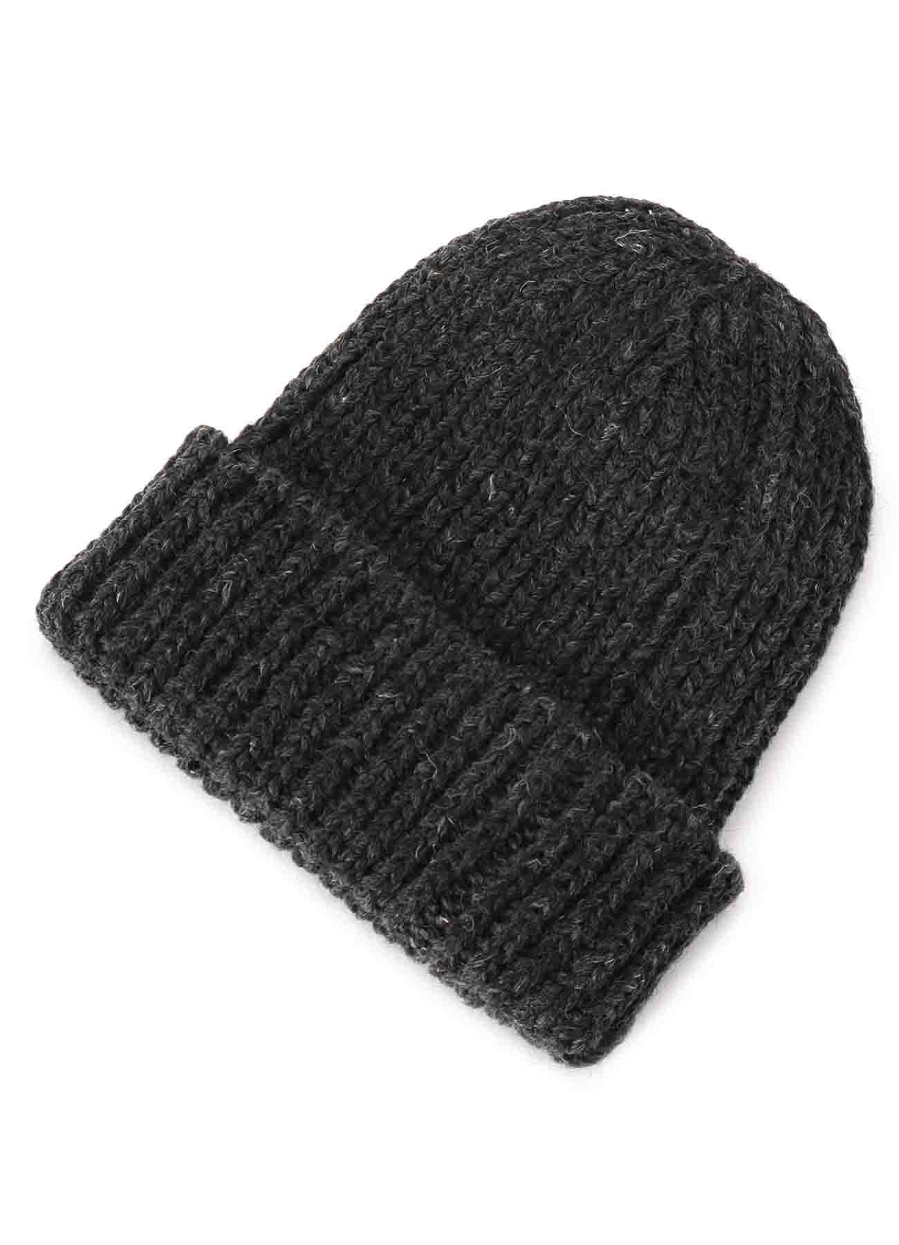 MIX/WOOL ACRYLIC FOLDED KNIT CAP