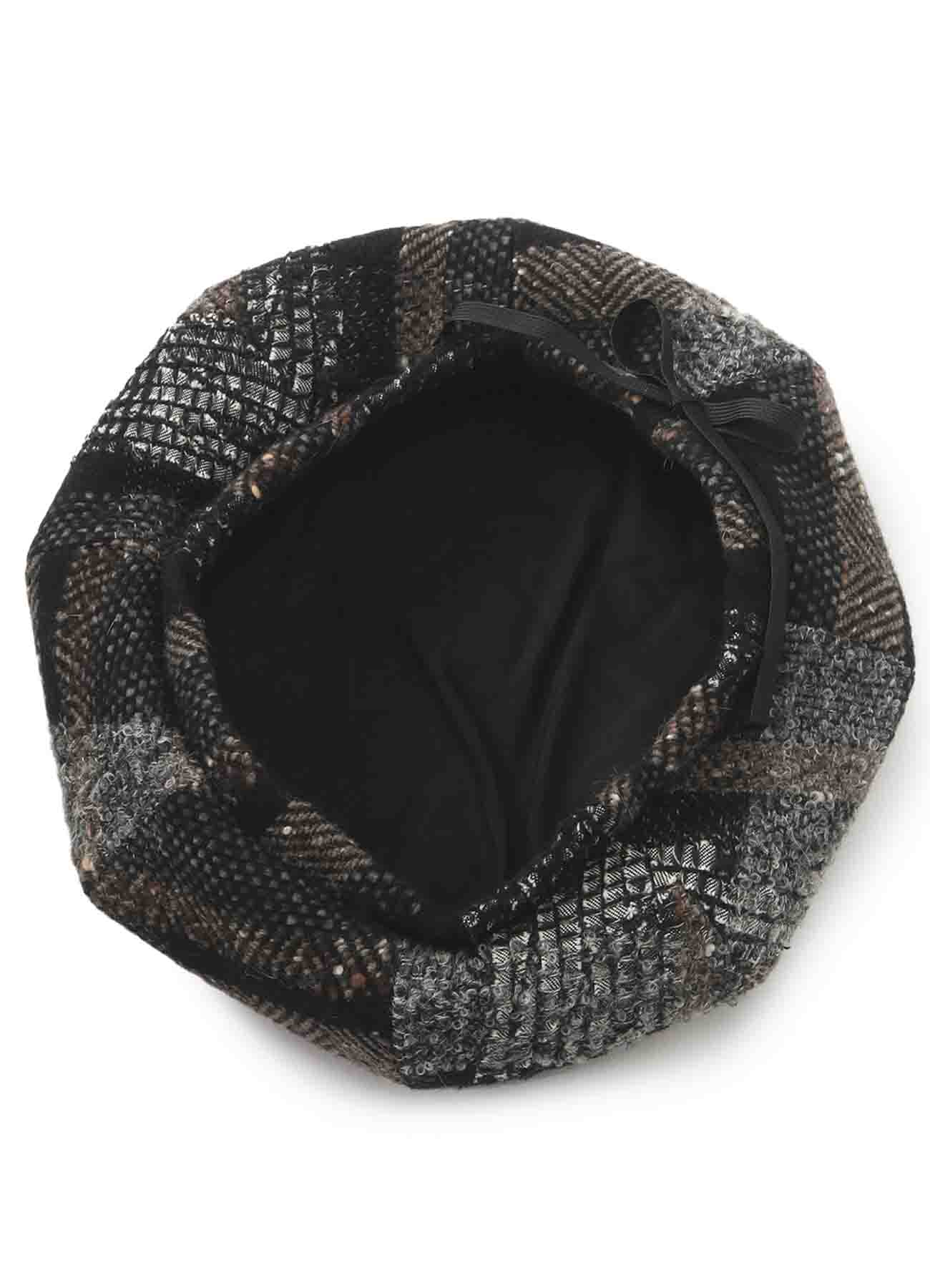 TAPE TWEED DARTS BERET