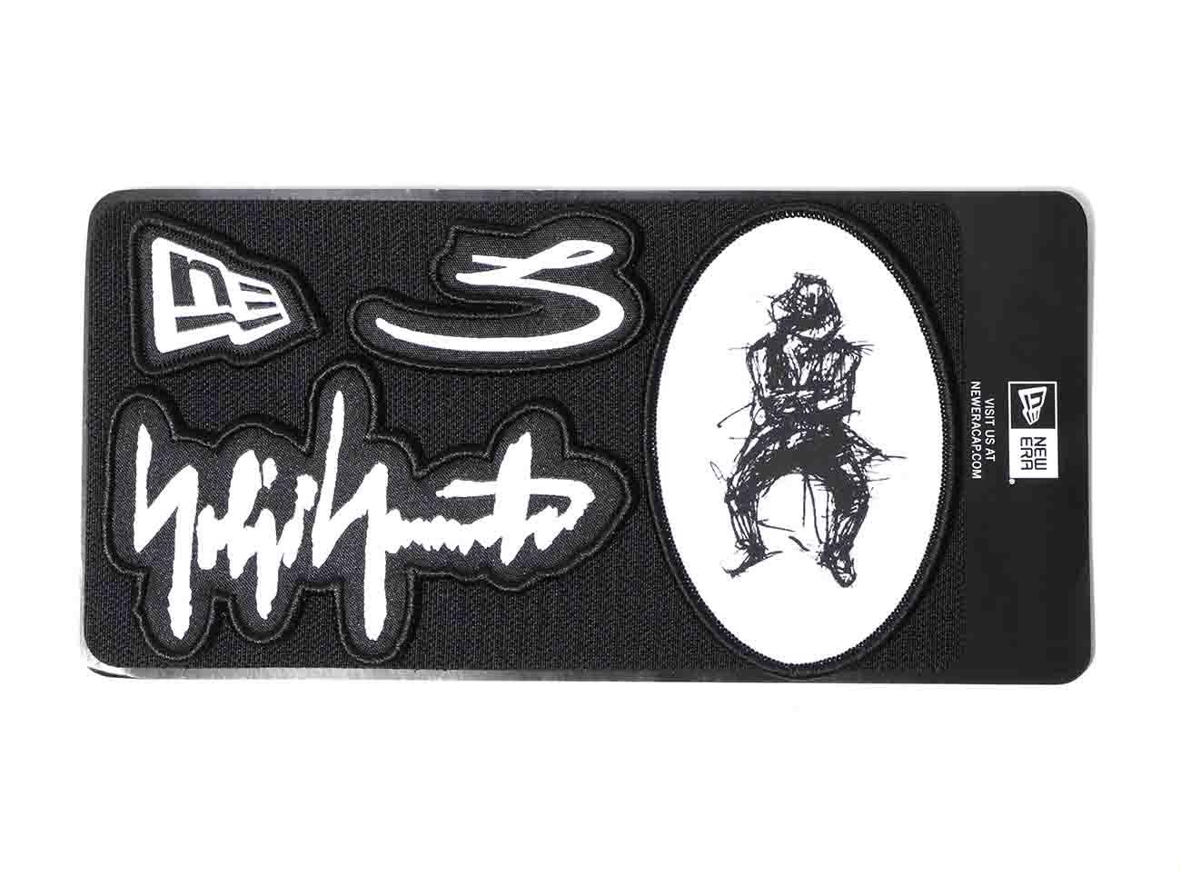 Yohji Yamamoto × New Era 59FIFTY BLACK SERGE VELCRO PATCH 100TH