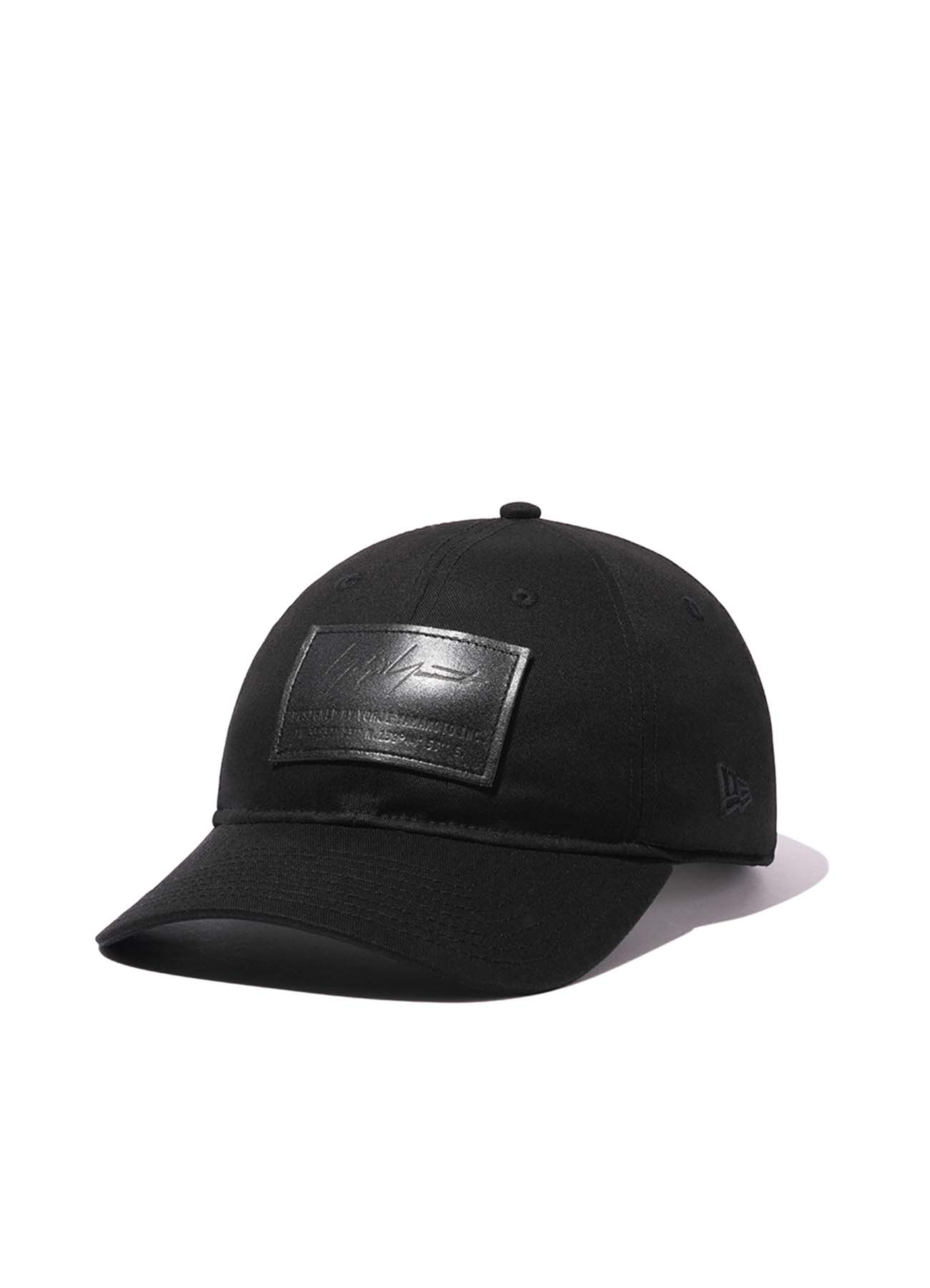 Yohji Yamamoto × New Era 9THIRTY BLACK COTTON LEATHER PATCH BLACK