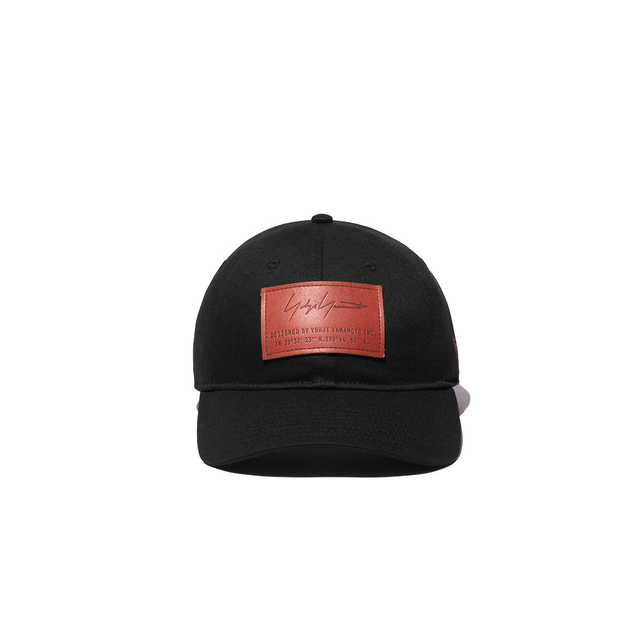 Yohji Yamamoto × New Era 9THIRTY BLACK COTTON LEATHER PATCH BROWN