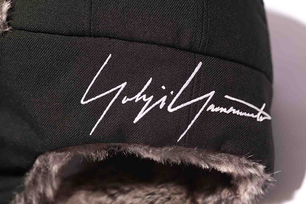 Yohji Yamamoto × New Era BLACK SERGE FUR THE TRAPPER