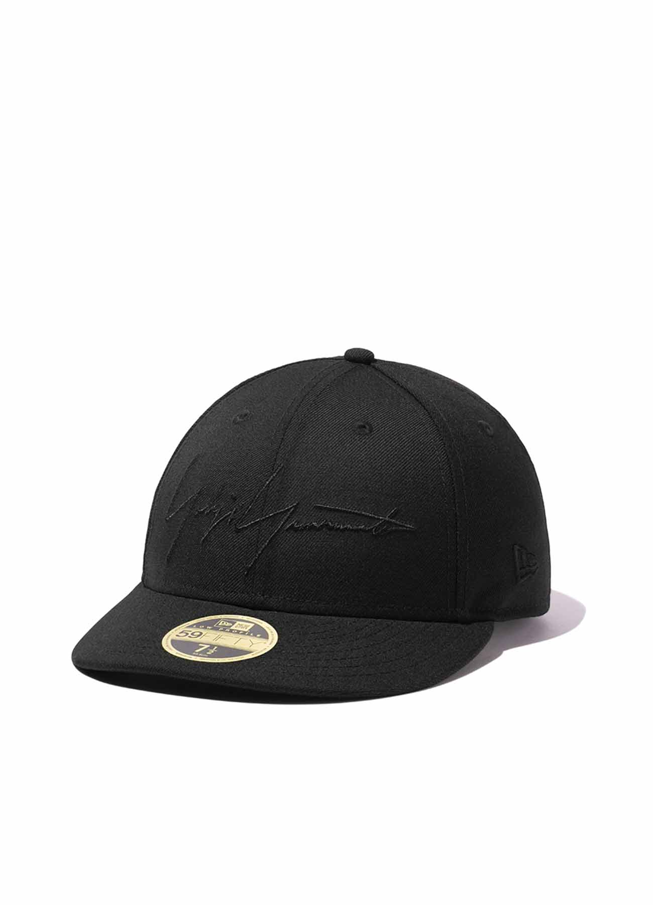 Yohji Yamamoto × New Era BLACK SERGE LOW PROFILE 59FIFTY LOGO BLACK/BLACK