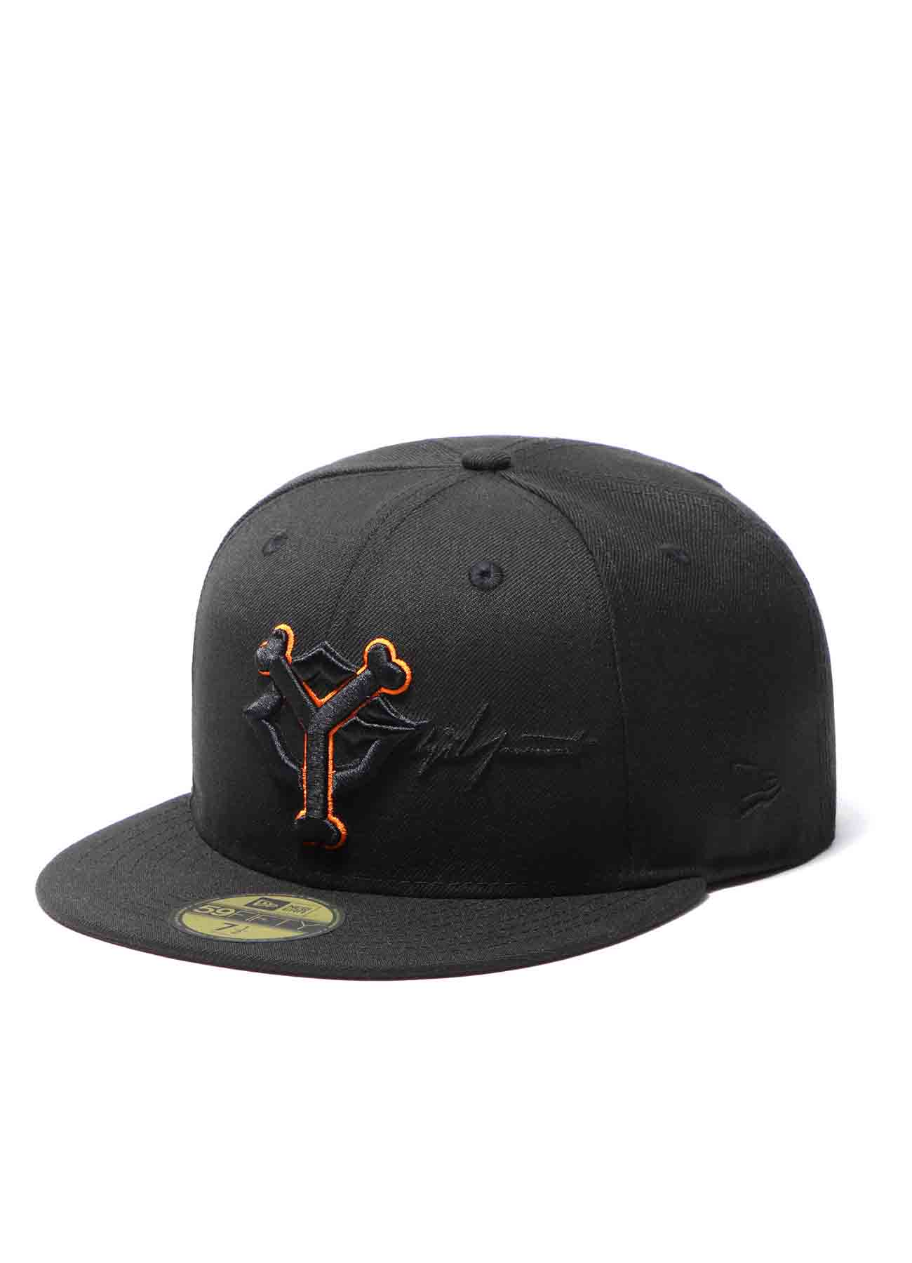Yohji Yamamoto × Yomiuri Giants × New Era 59FIFTY Wool Searge Black Orange