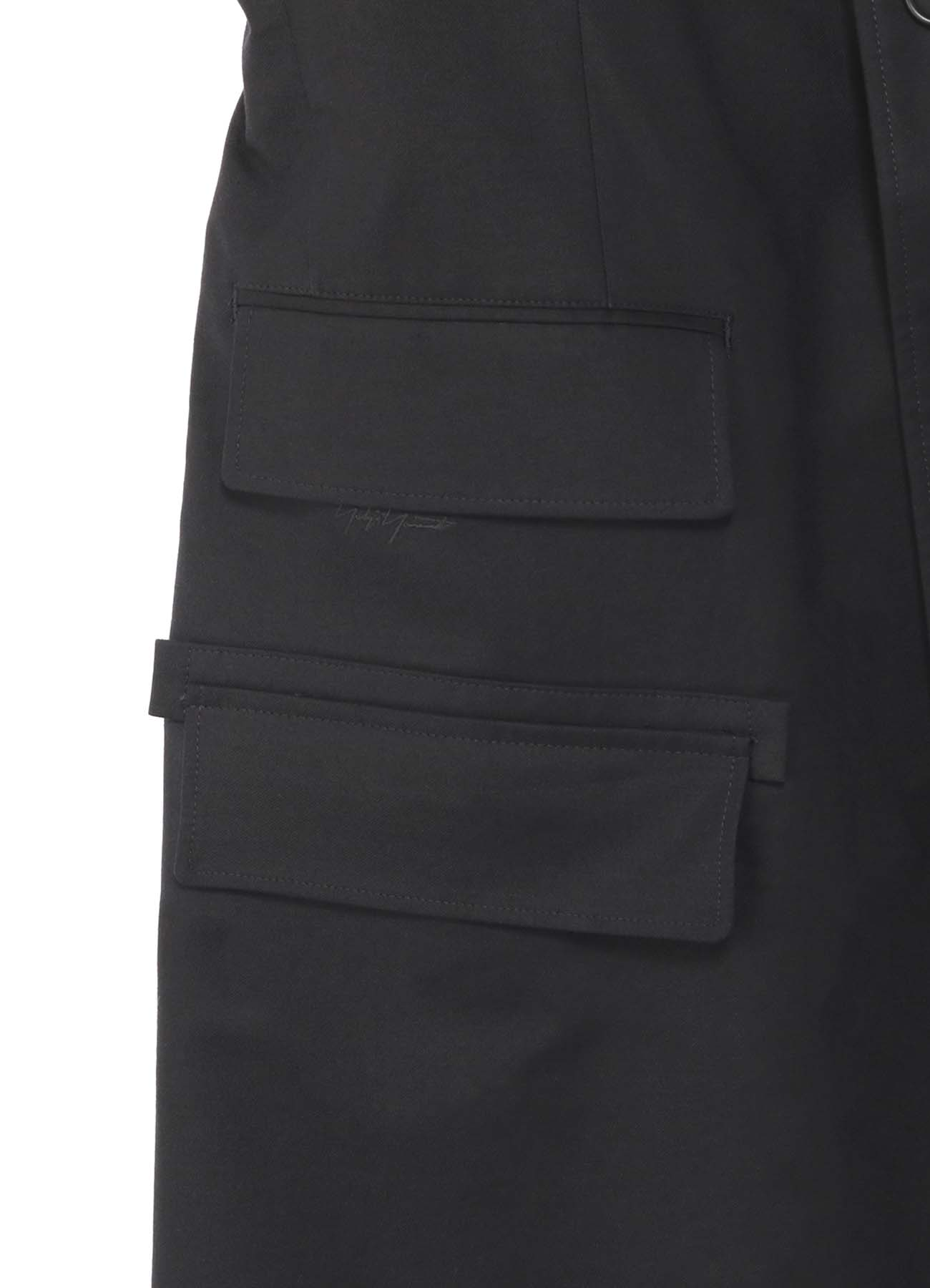 BLACK Scandal刺繍ツイル 三つ釦ノッチタブ付きドクタージャケット