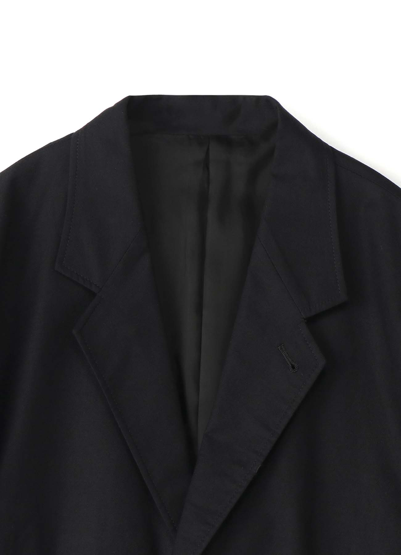 EMBROIDERY TWILL 3BUTTON SINGLE FLAP JACKET