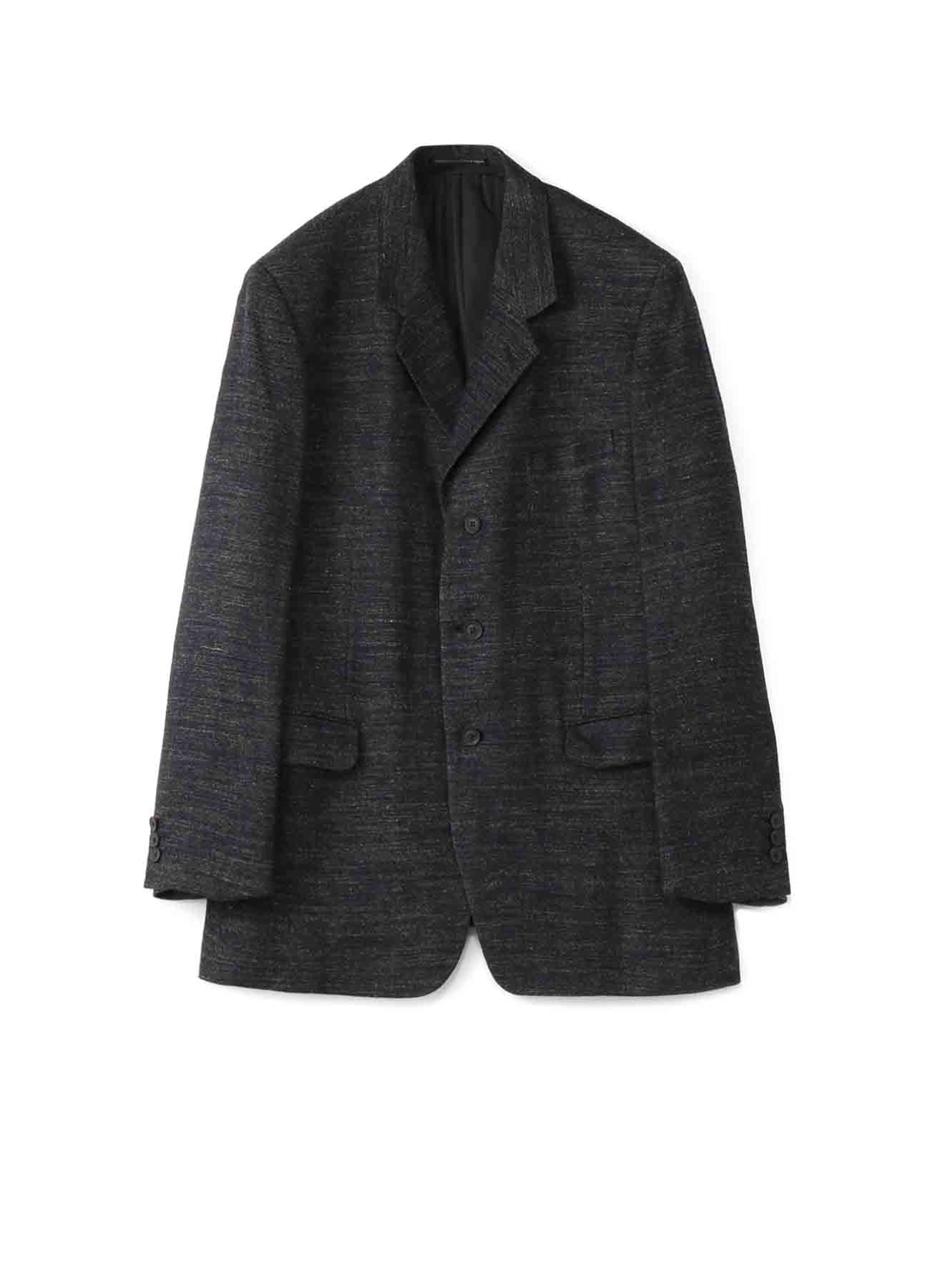 COSTUME D'HOMME WOOL/LINEN TWILL 3BUTTON SINGLE JACKET