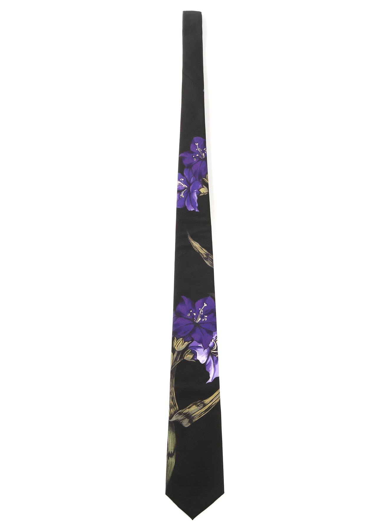 15MONME S/TWILL PT A FLOWER PRINT TIE PURPLE