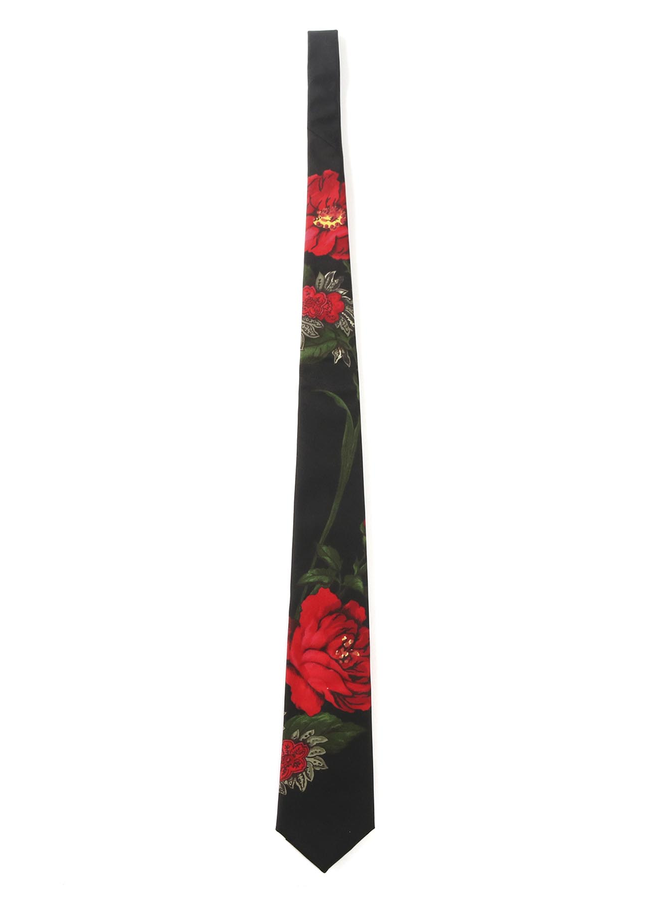 15MONME S/TWILL PT B FLOWER PRINT TIE RED