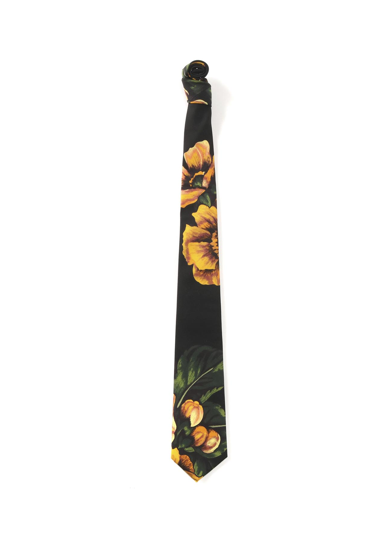 15MONME S/TWILL PT C FLOWER PRINT TIE YELLOW