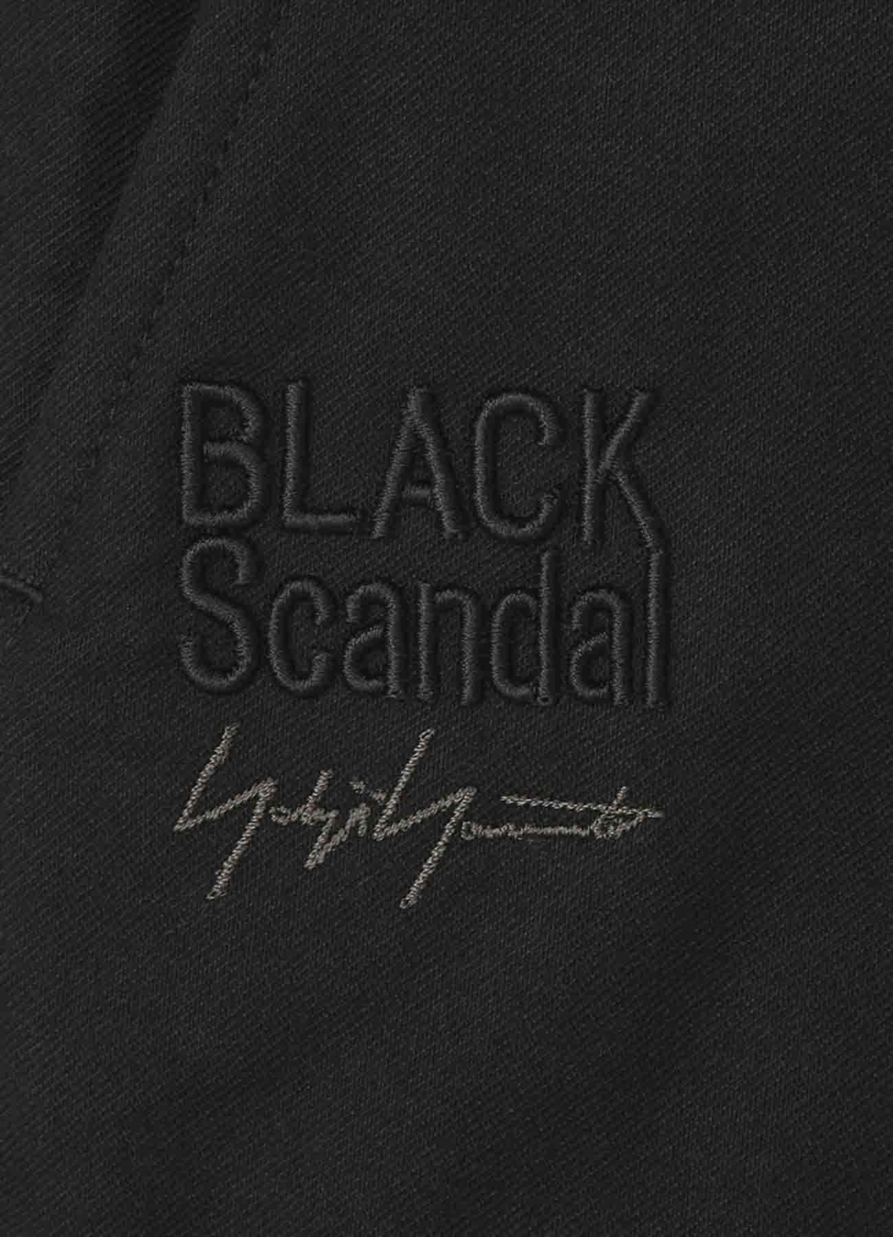 BLACK Scandal刺繍ツイル 左脇ファスナー付きパンツ