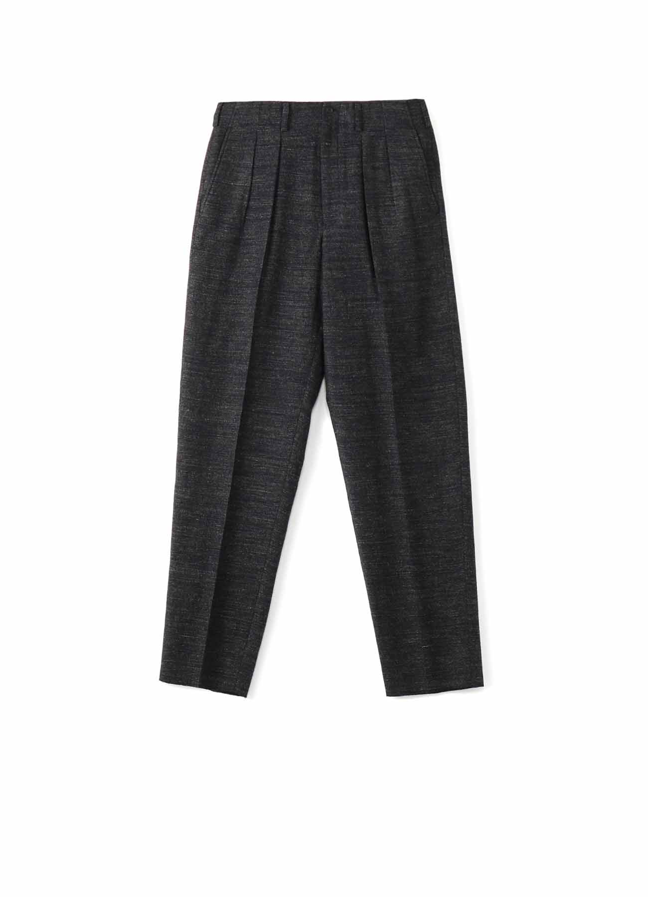 COSTUME D'HOMME WOOL/LINEN TWILL 2TUCK PANTS