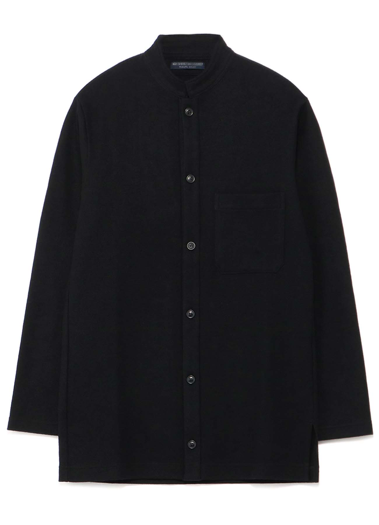 REGULATION 1/60 COMPRESSED SMOOTH STAND COLLAR CARDIGAN