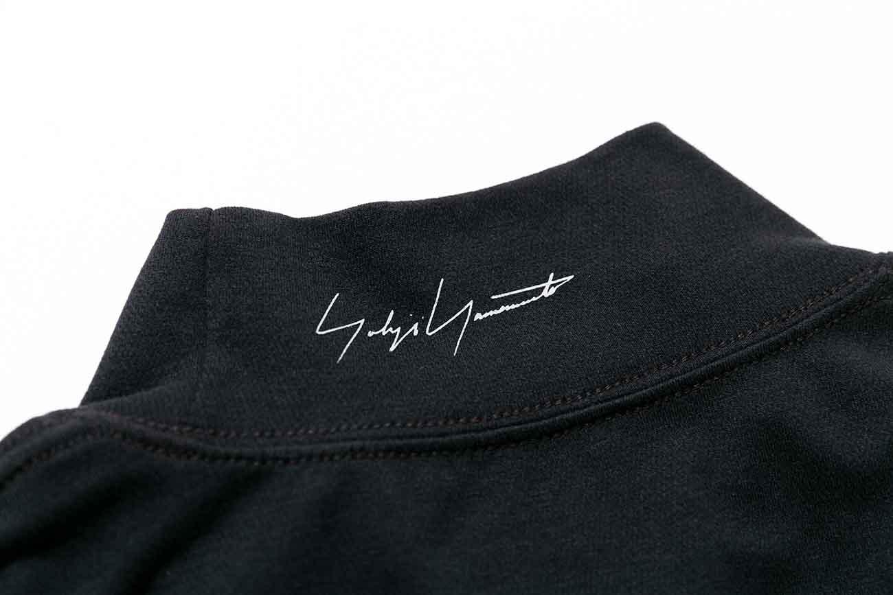 Yohji Yamamoto × New Era MINI LOGO HIGH COLLAR L/S PERFORMANCE TEE