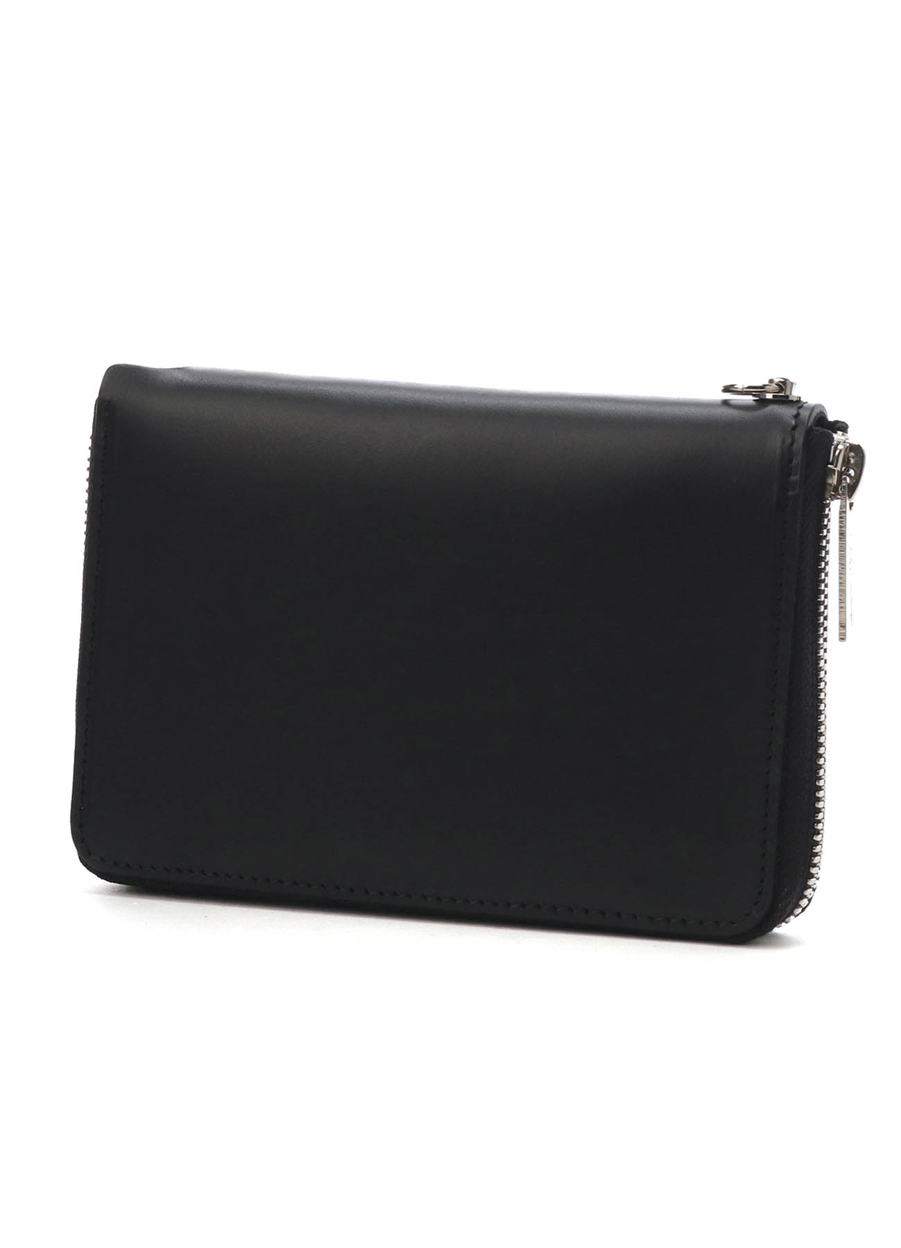 THICK UNFINISHED LEATHER ZIP WALLET S