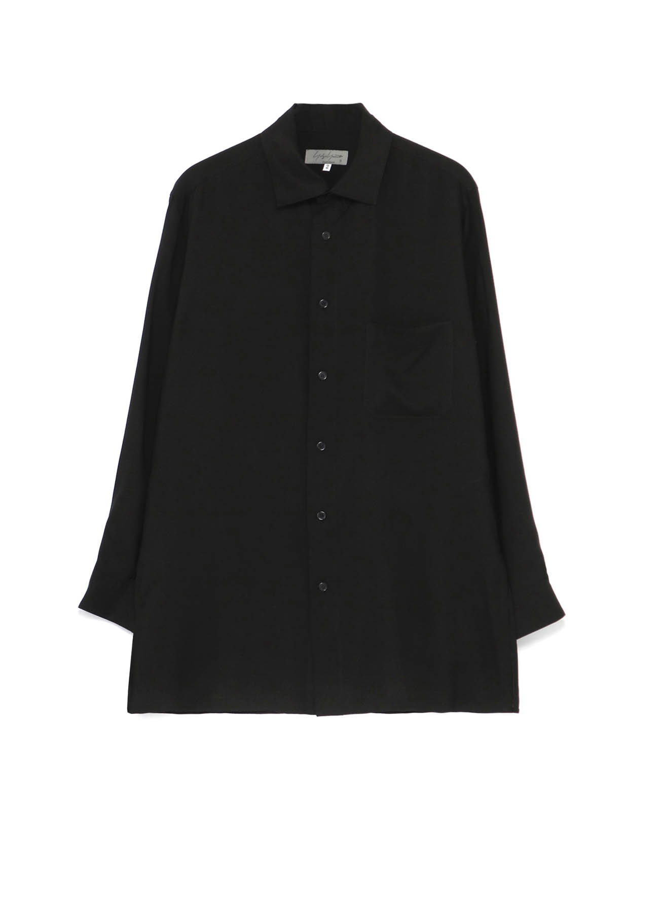 CELLULOSE LAWN STAND COLLAR BLOUSE