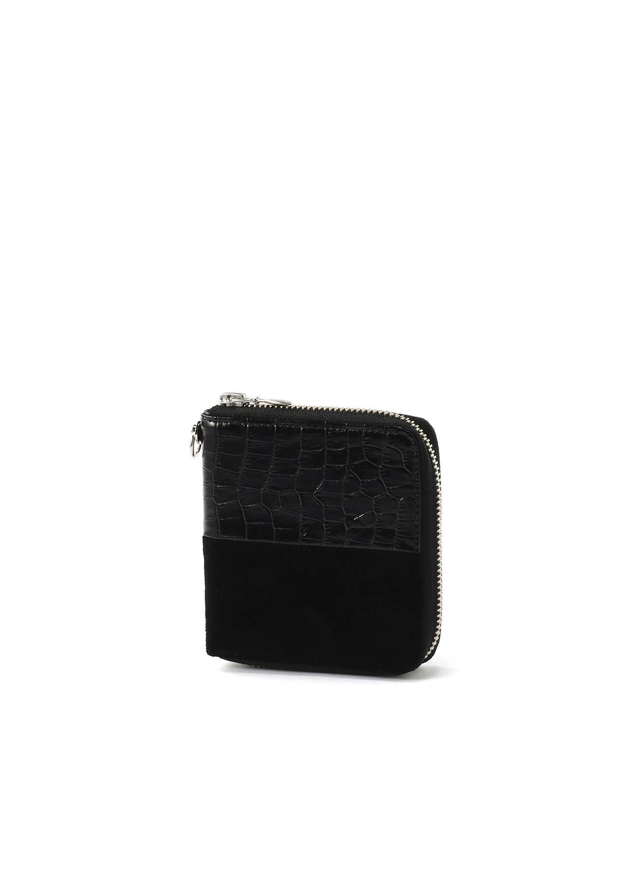 型押ステア/ピッグスエード短財布