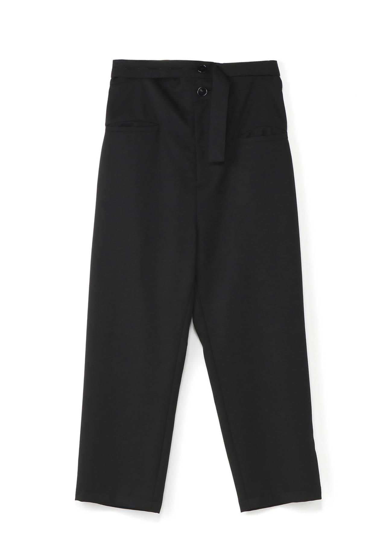 错位腰带设计长裤