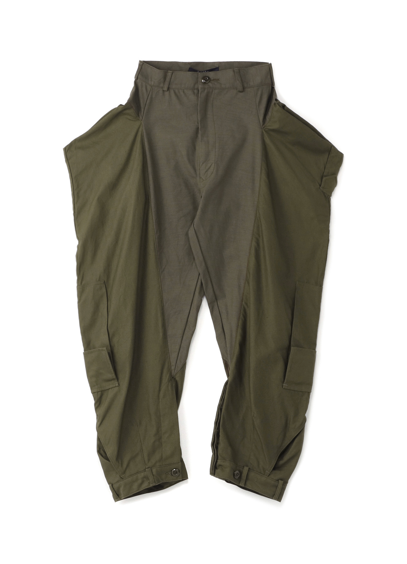 军用重制拼接长裤