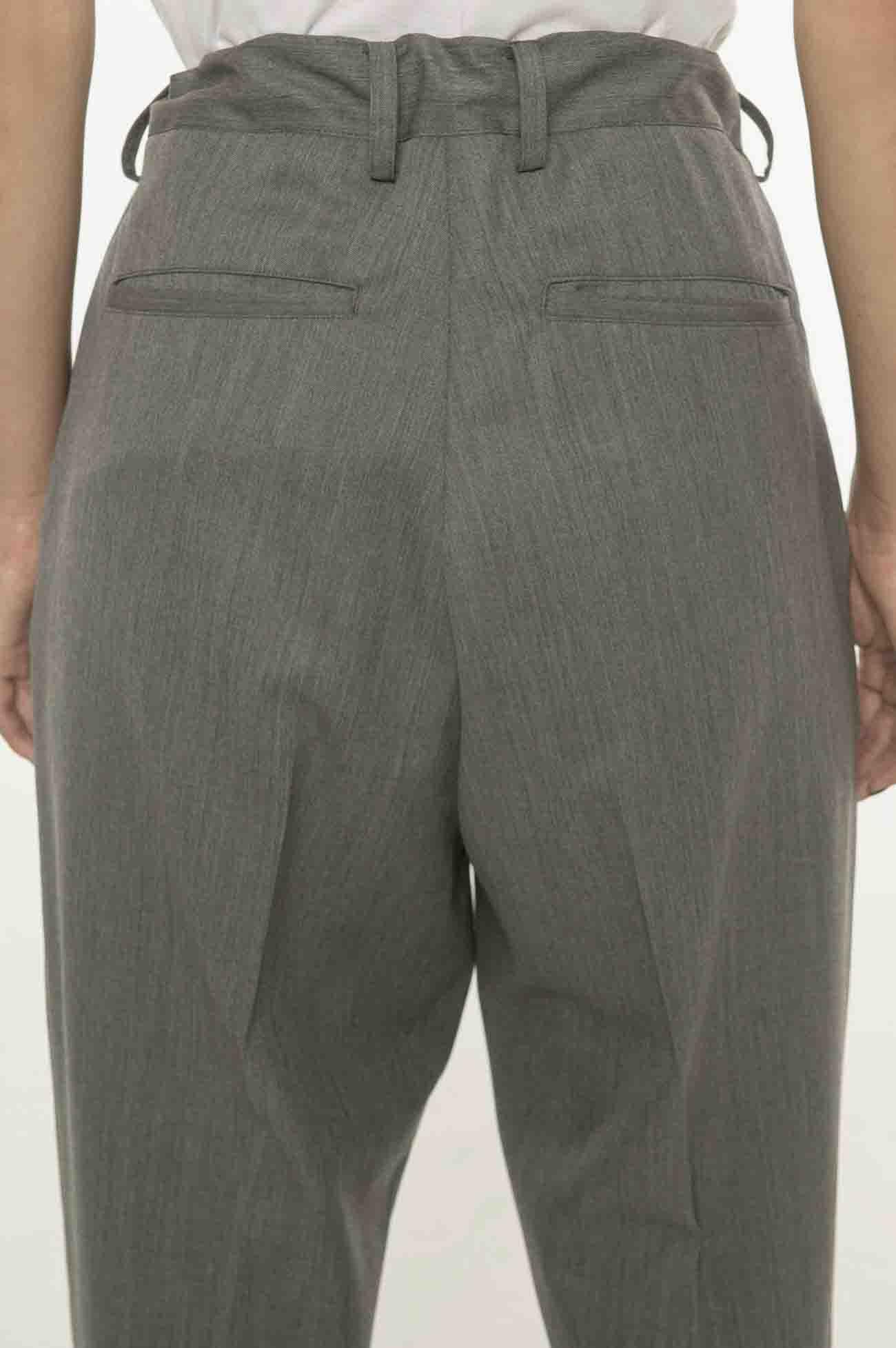 抽绳羊毛长裤