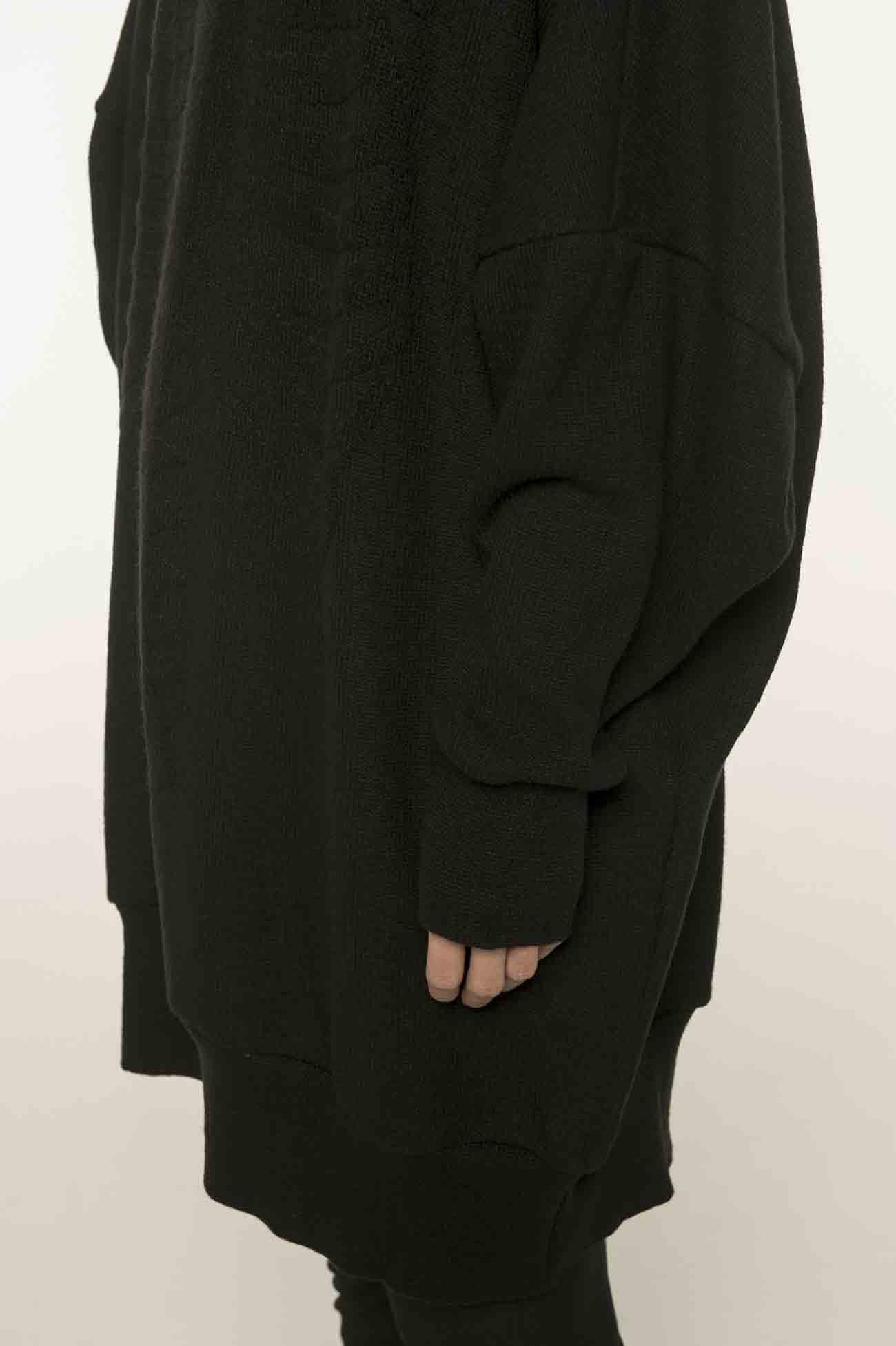 肋骨编织高领针织衫